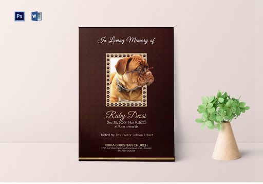 Memorial Card for Pet