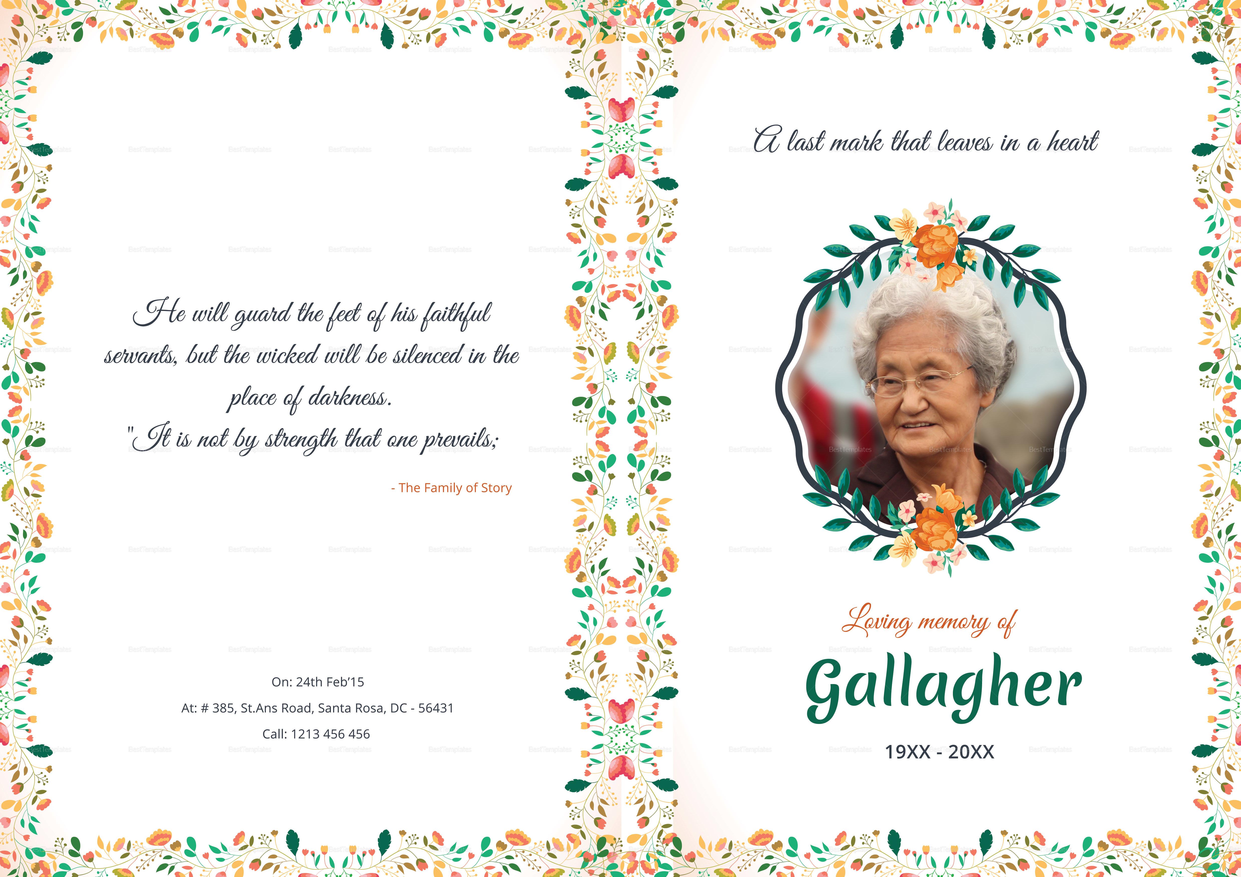 Funeral A4 Bi-Fold Brochure