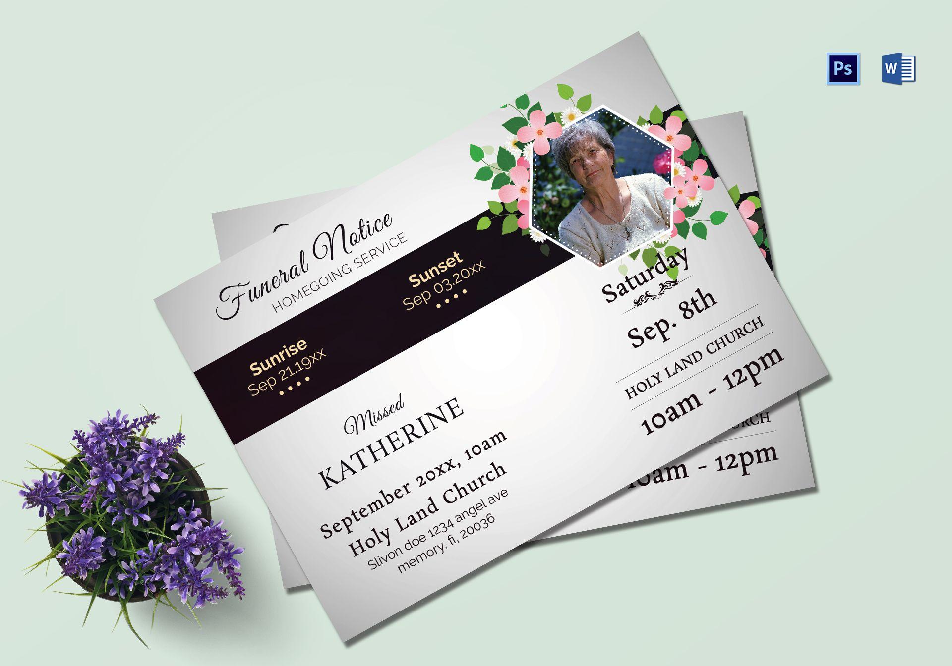 Premium Funeral Notice Template