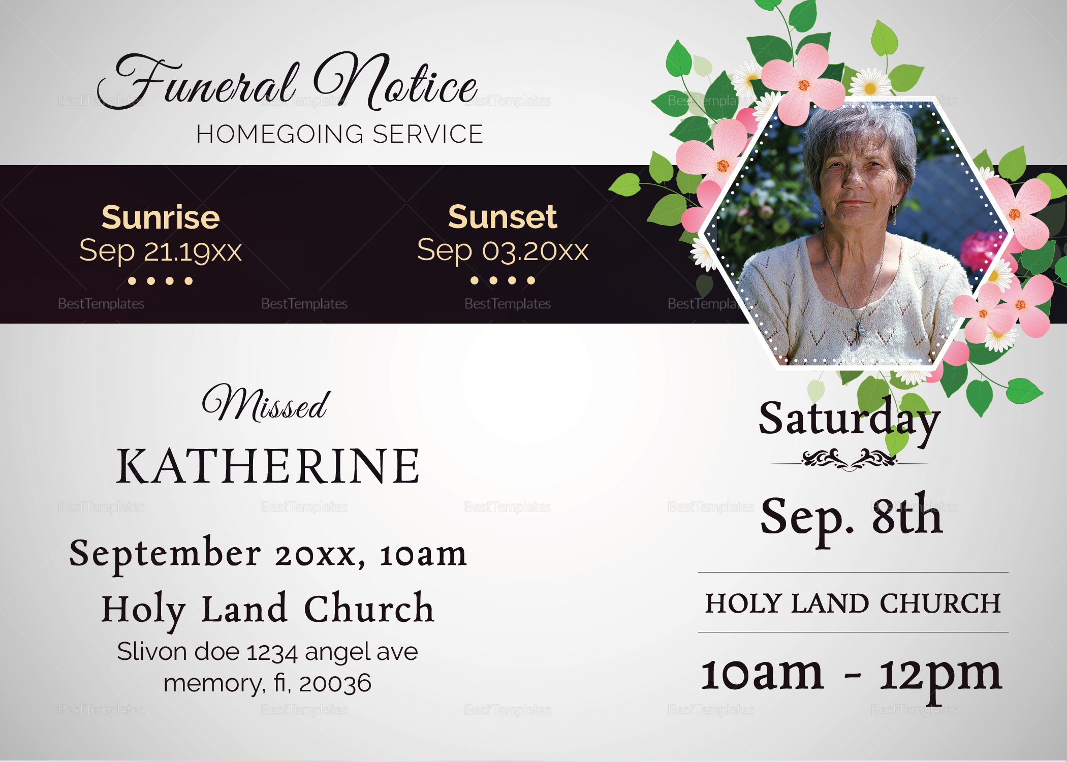 Premium Funeral Notice