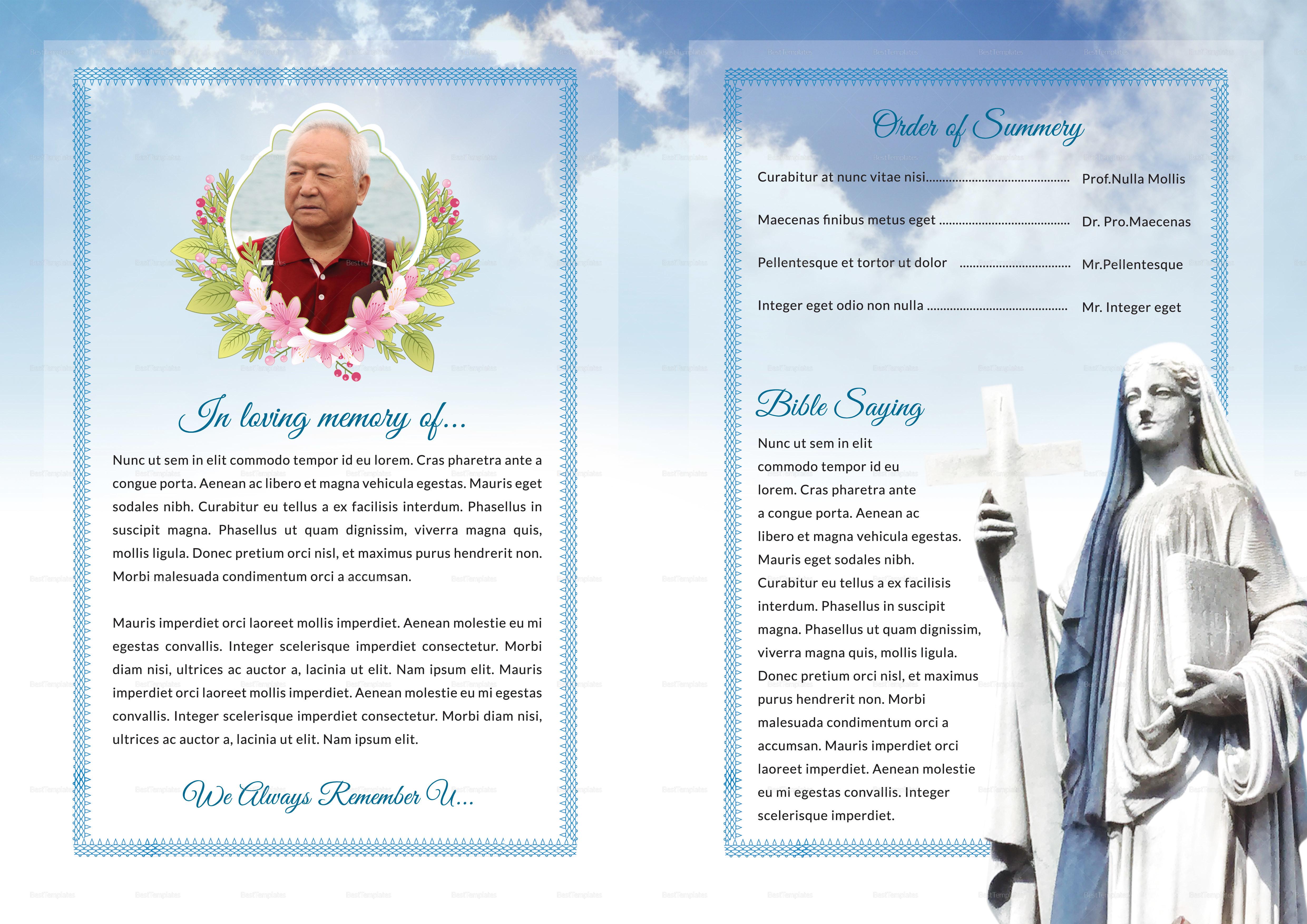 Funeral Program Bi-Fold