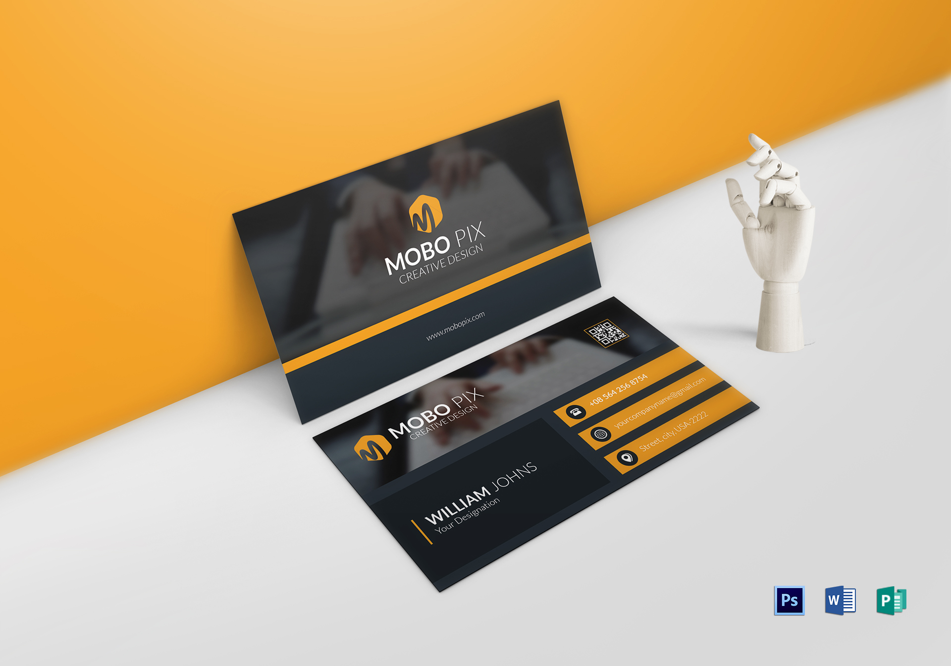 Double Sided Business Card Design Template In Word, PSD, Publisher