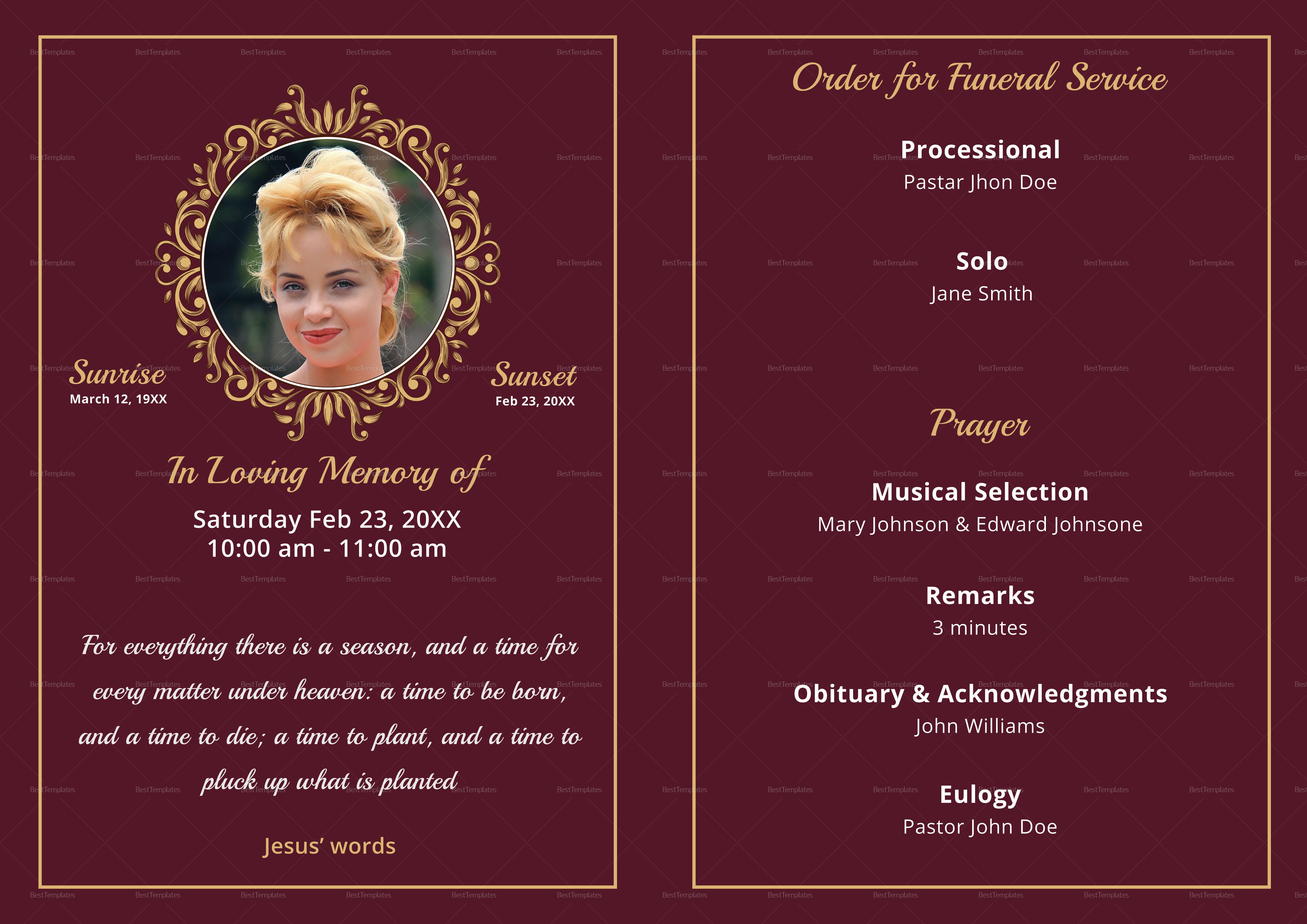 Memorial Service Funeral