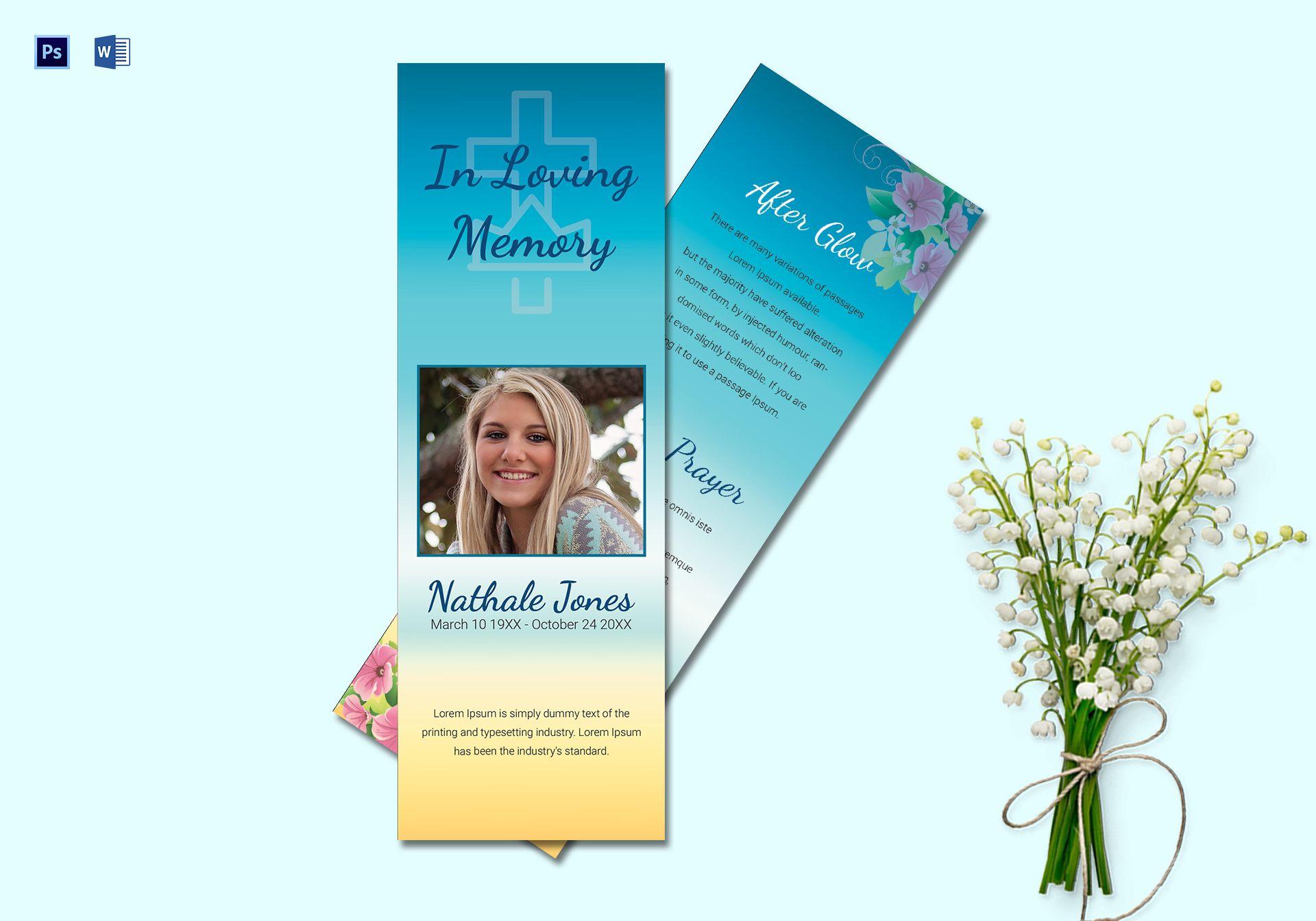 Premium Memorial Bookmark