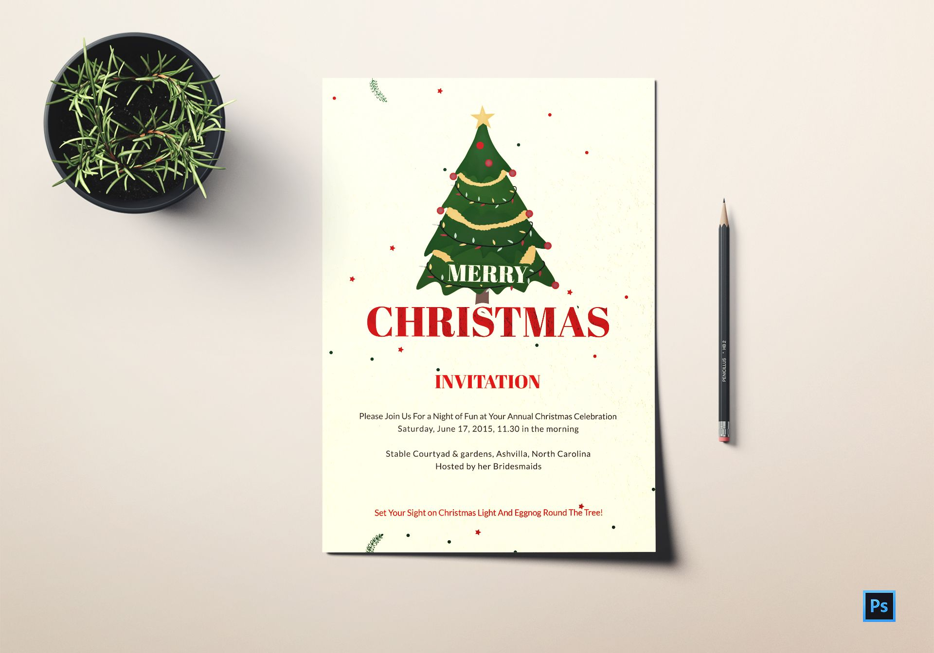 Christmas Celebration Invitation Template