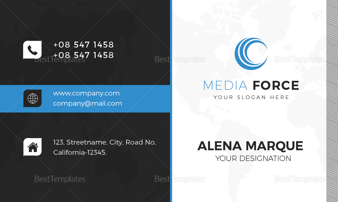 Media Business Card Design Template