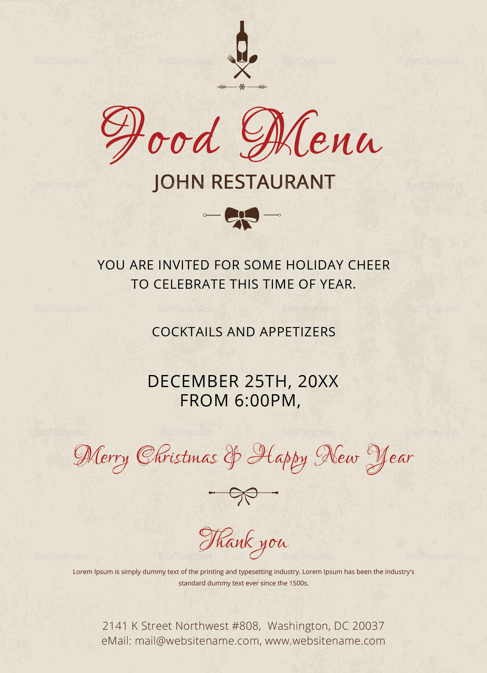 Elegant Christmas Party Invitation