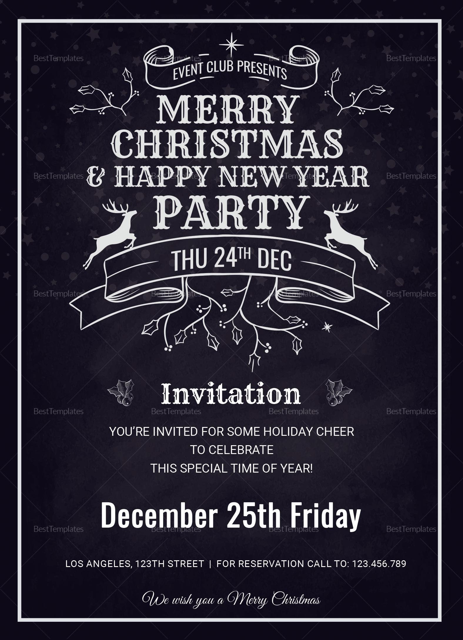 Christmas Holiday Invitation Card