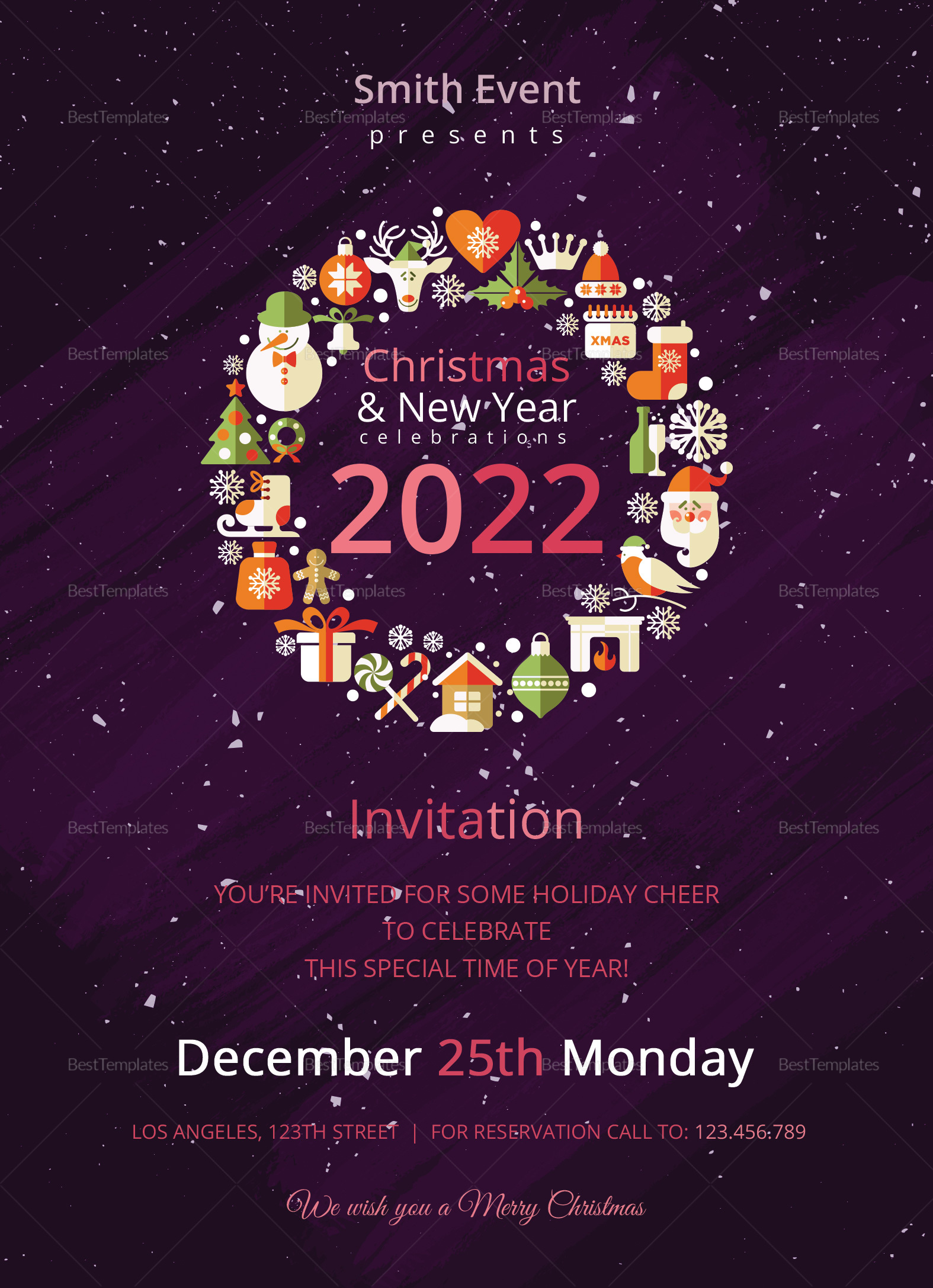 Modern Christmas Invitation Template
