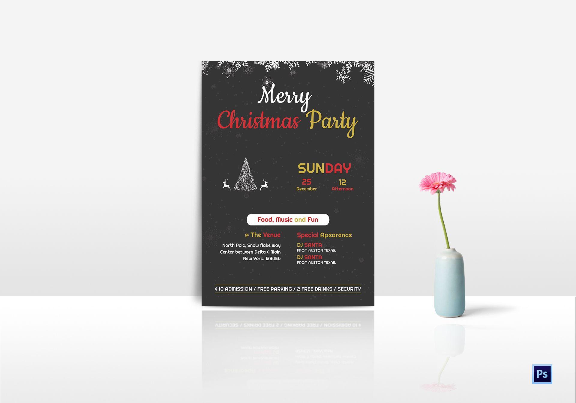 Editable Christmas Party Invitation Template