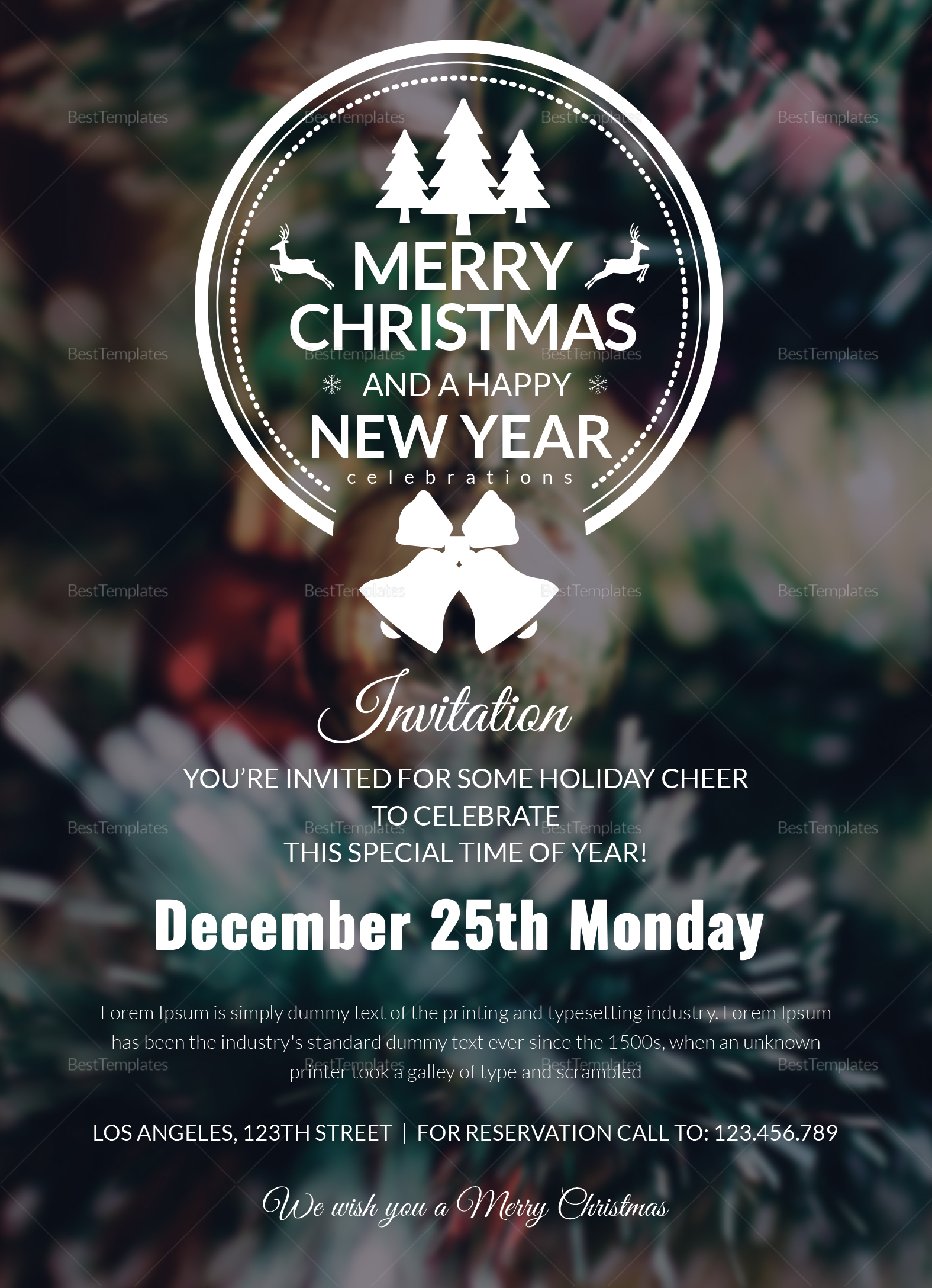 Editable Christmas Party Invitation