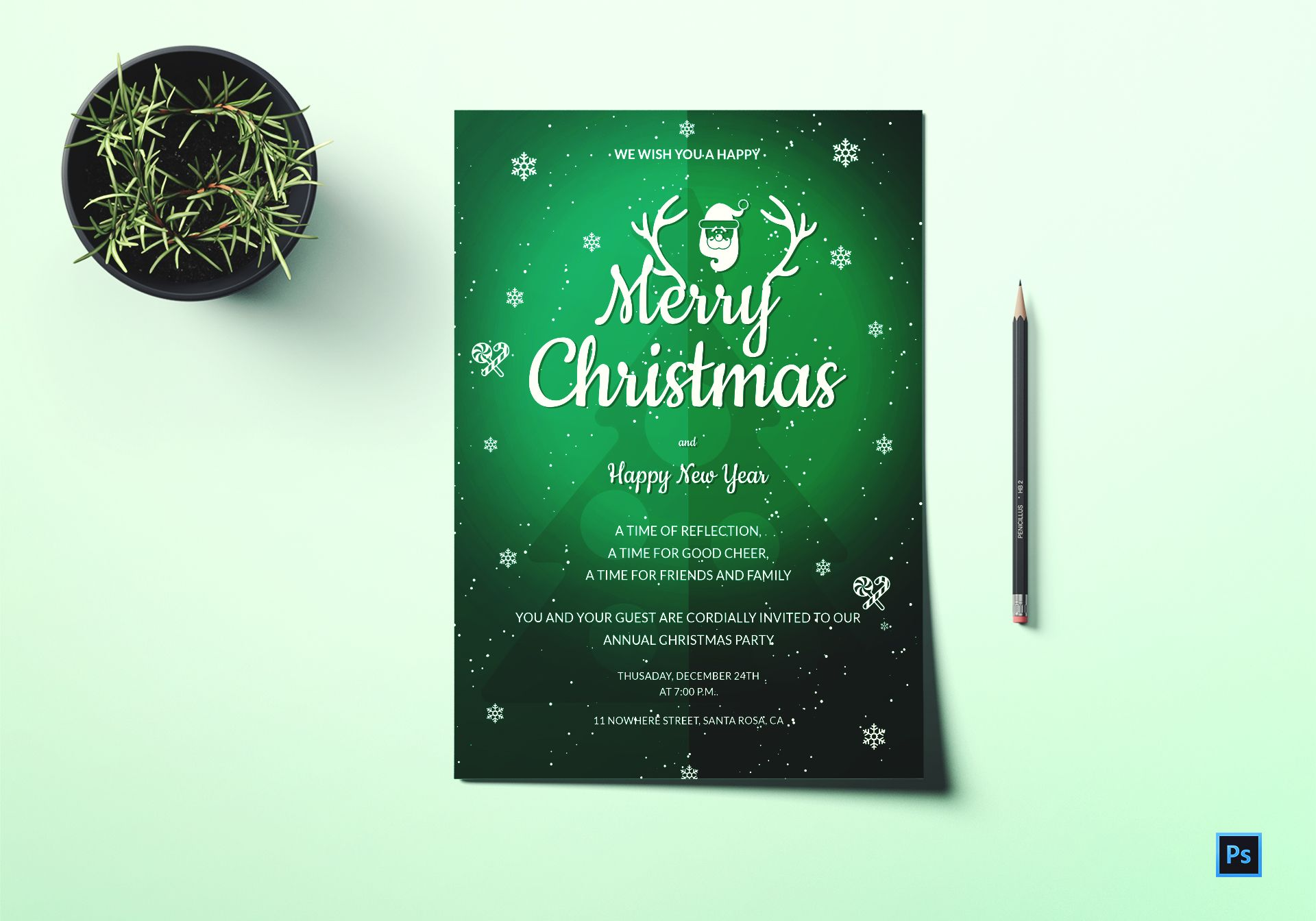 Annual Christmas Party Invitation Template