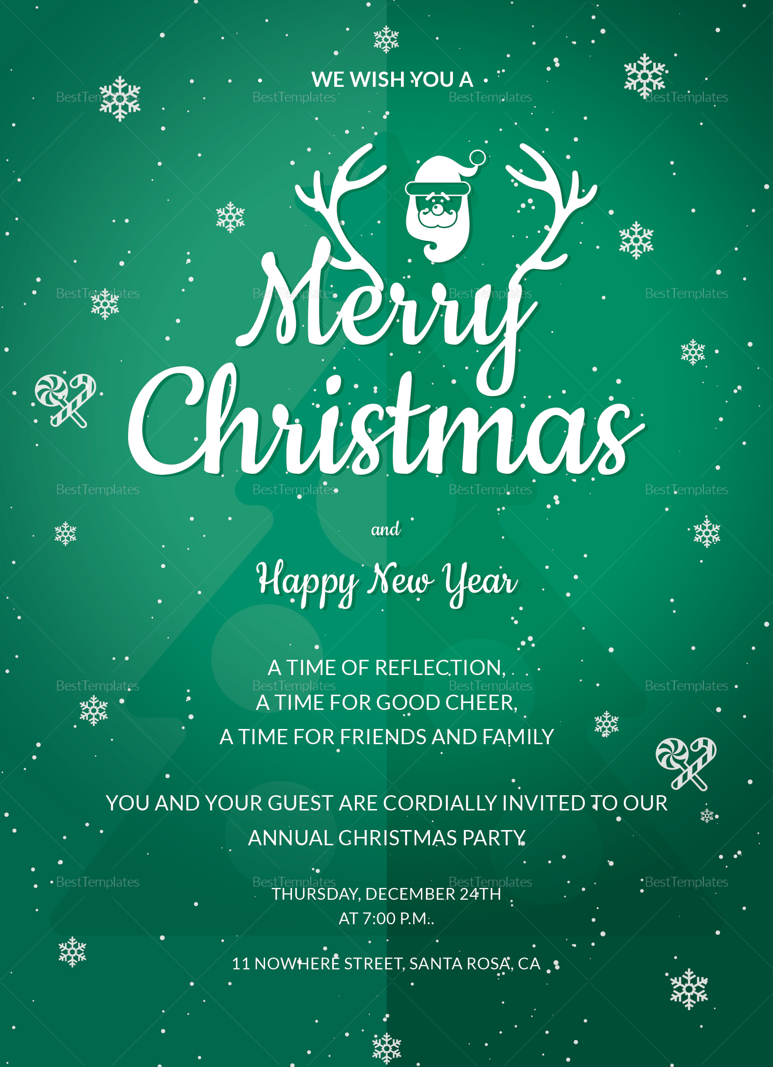 Annual Christmas Party Invitation