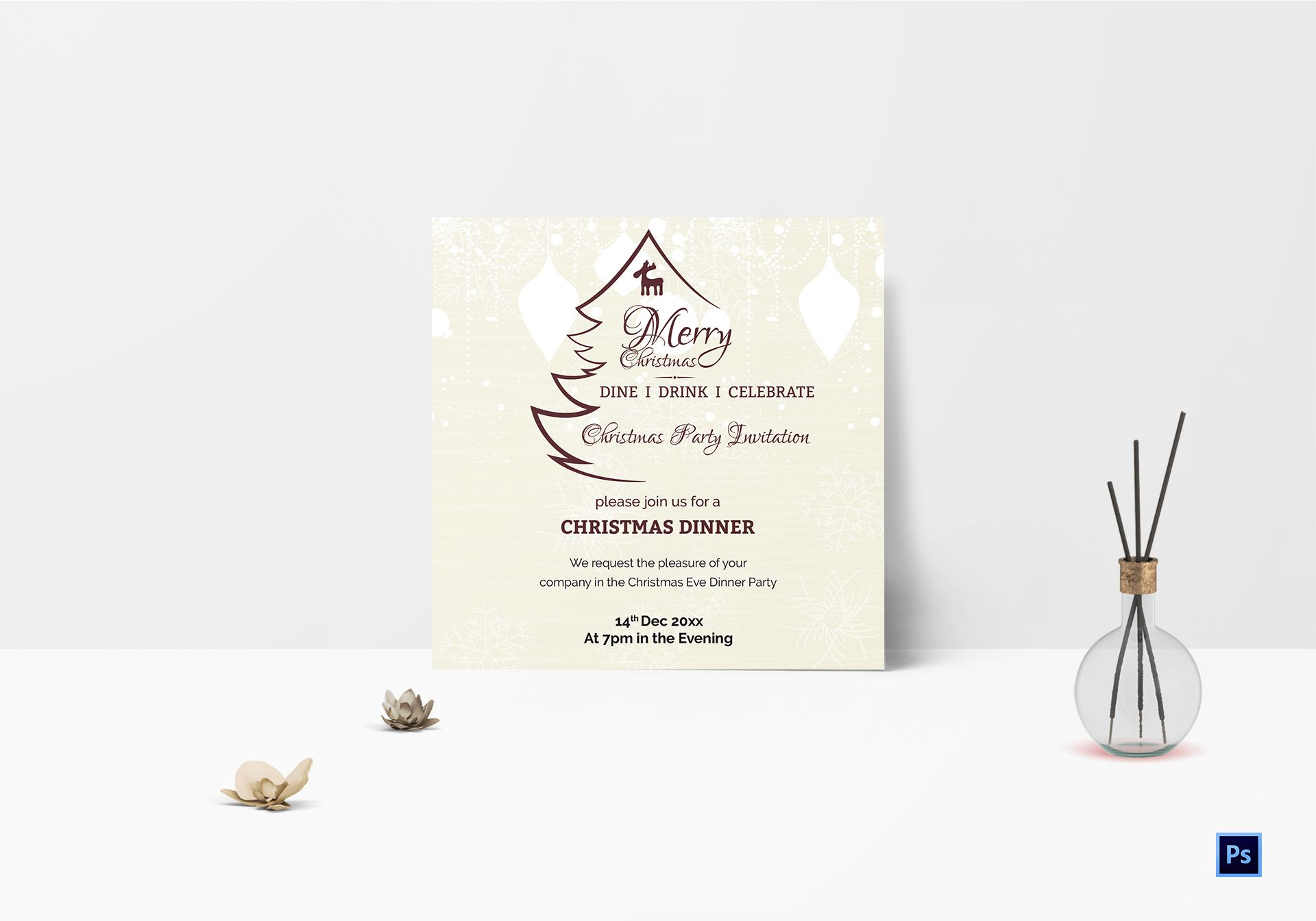 Holiday Christmas Party Invitation Template