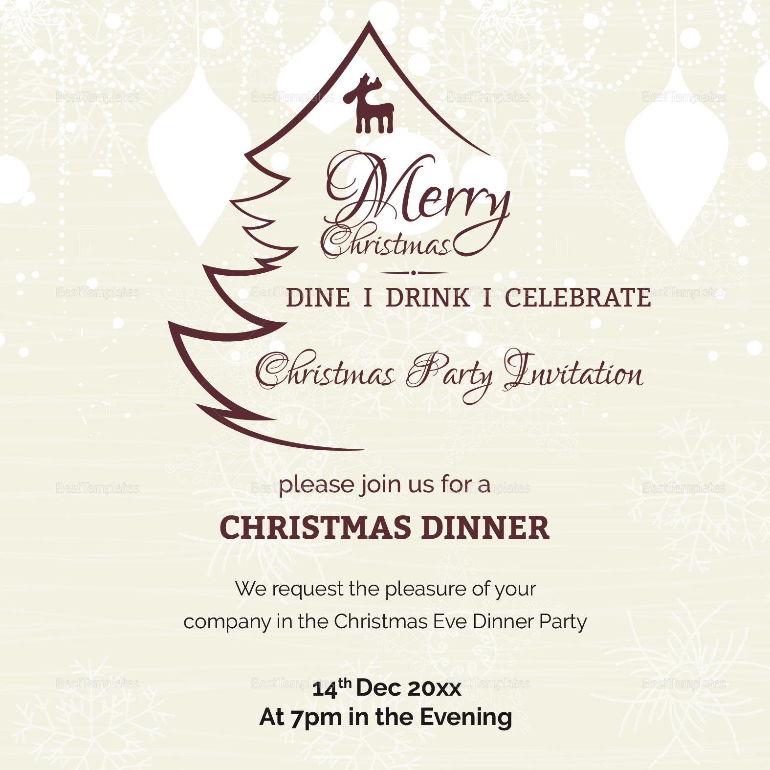 Holiday Christmas Party Invitation