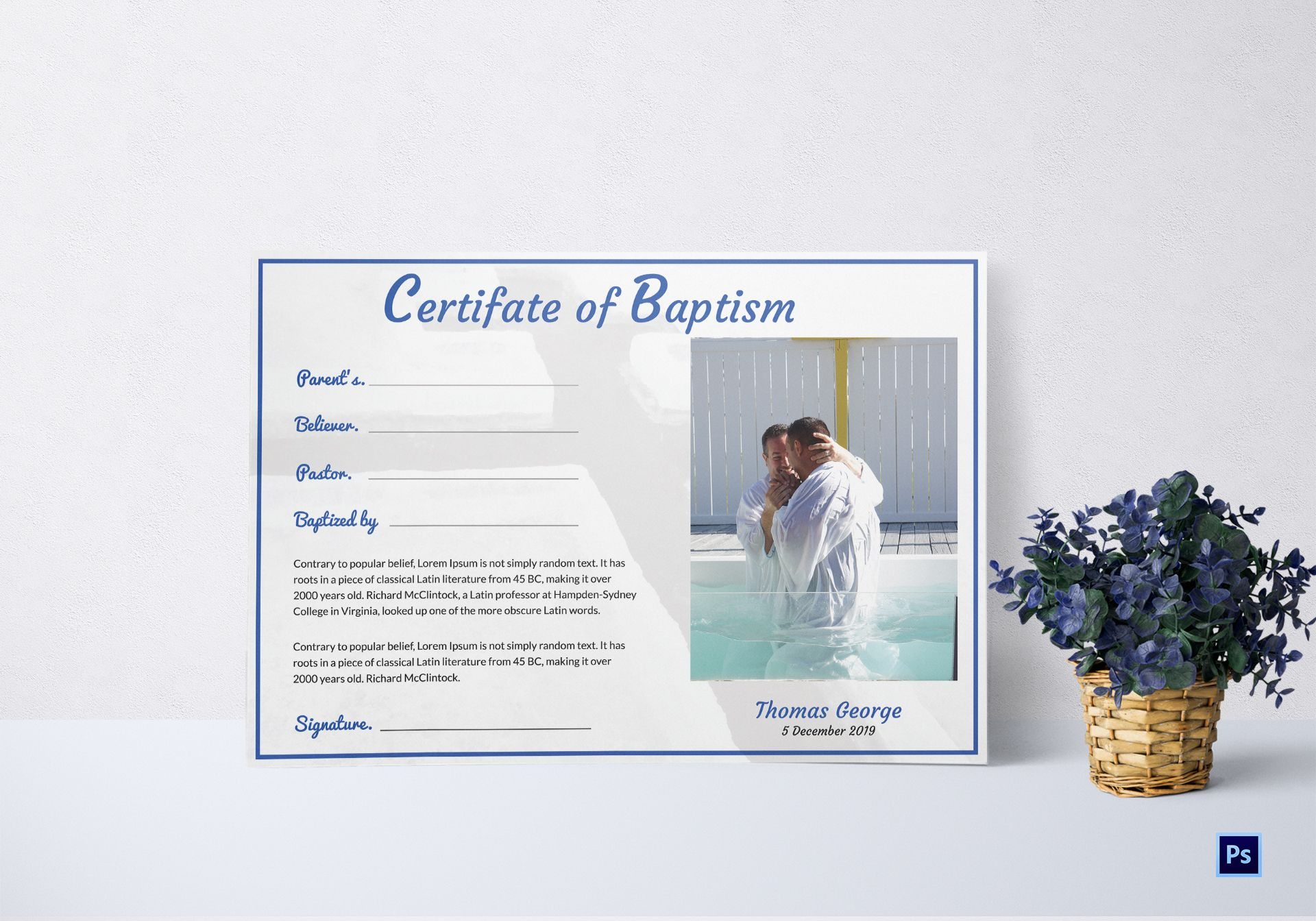 Accept. The adult baptism certificates criticism