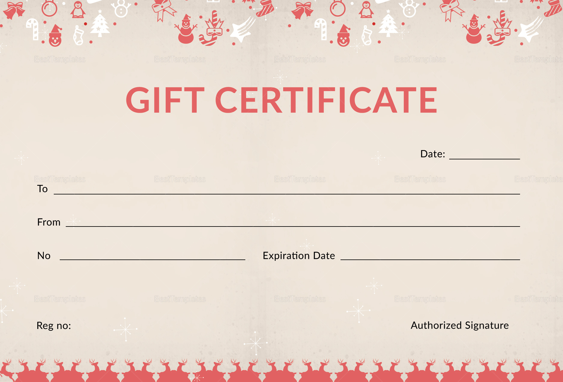 Christmas Holiday Gift Certificate