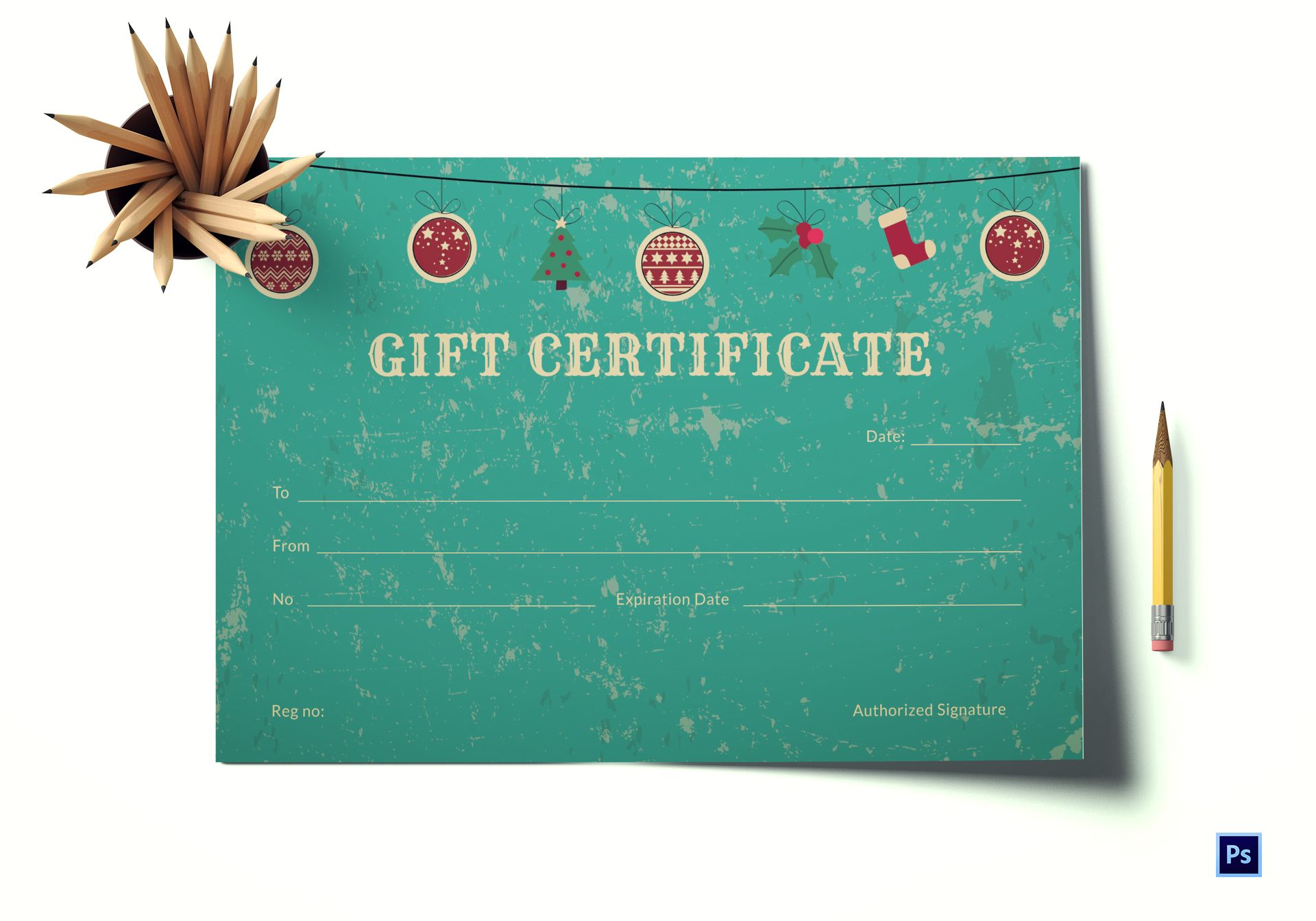 Special Christmas Gift Certificate Template