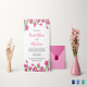 Pink Floral Bridal Shower Invitation Template