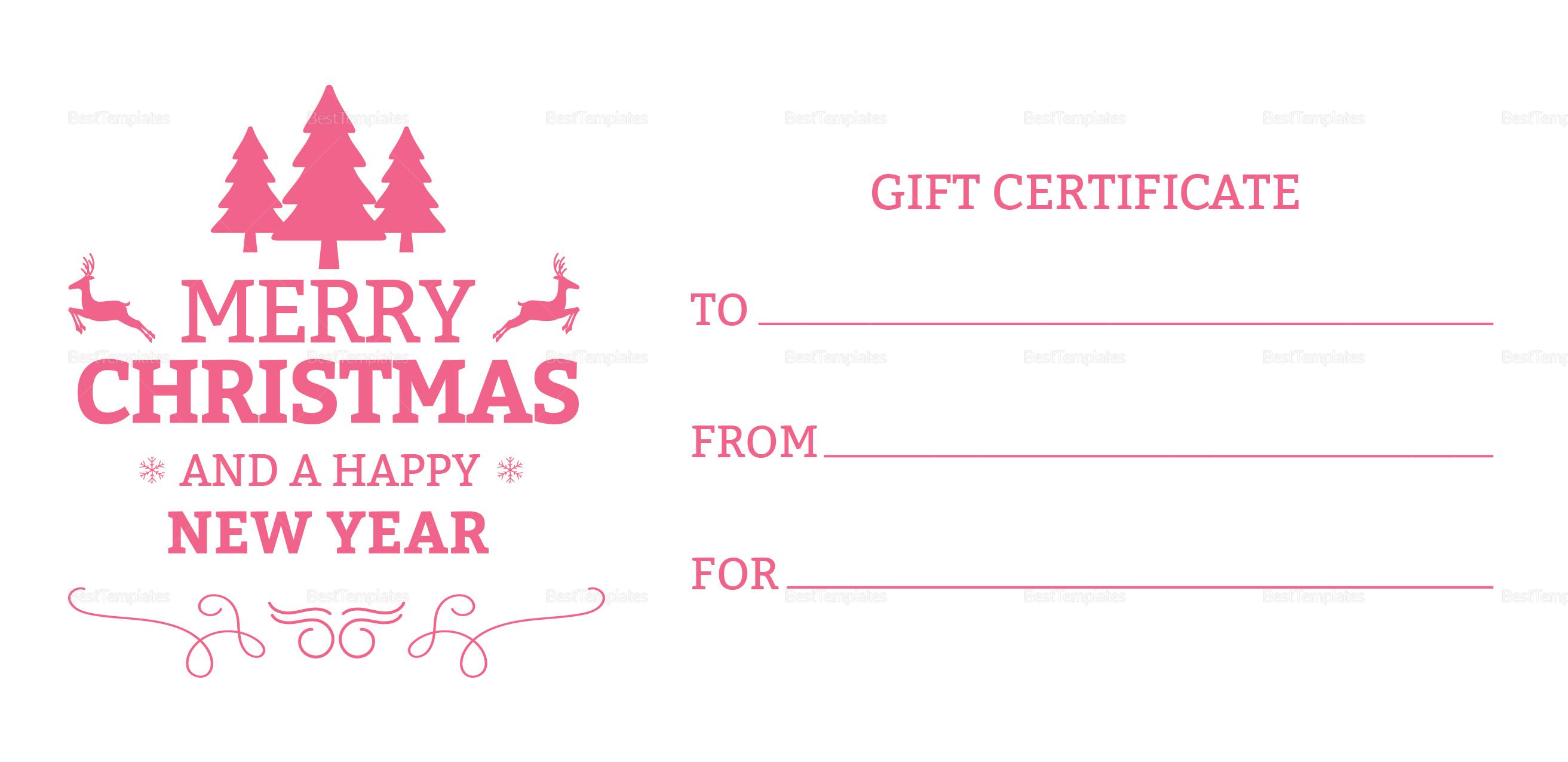 Beautiful Christmas Gift Certificate