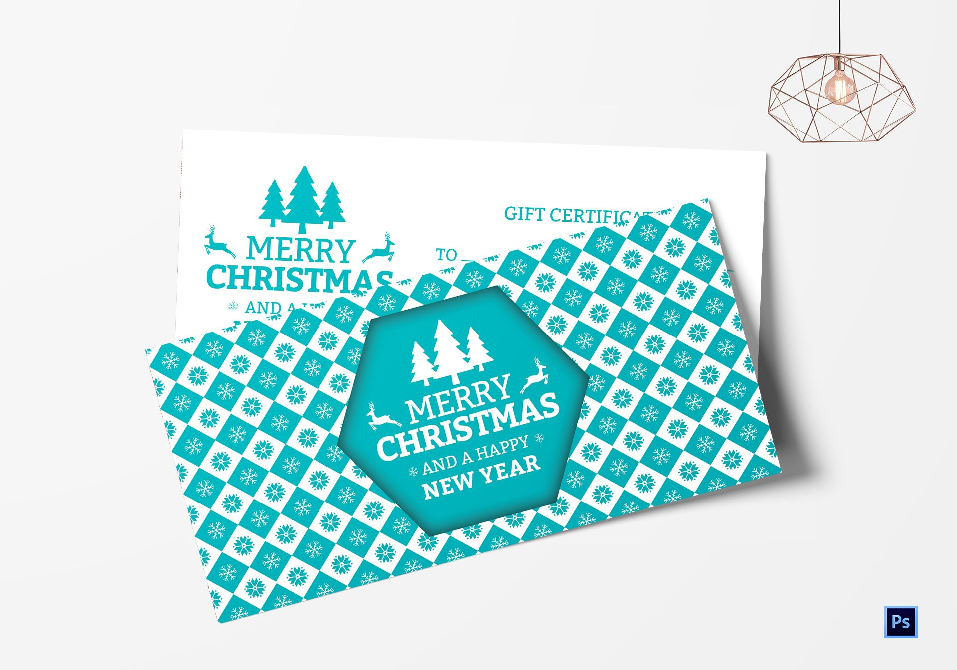 Modern Christmas Gift Certificate Template