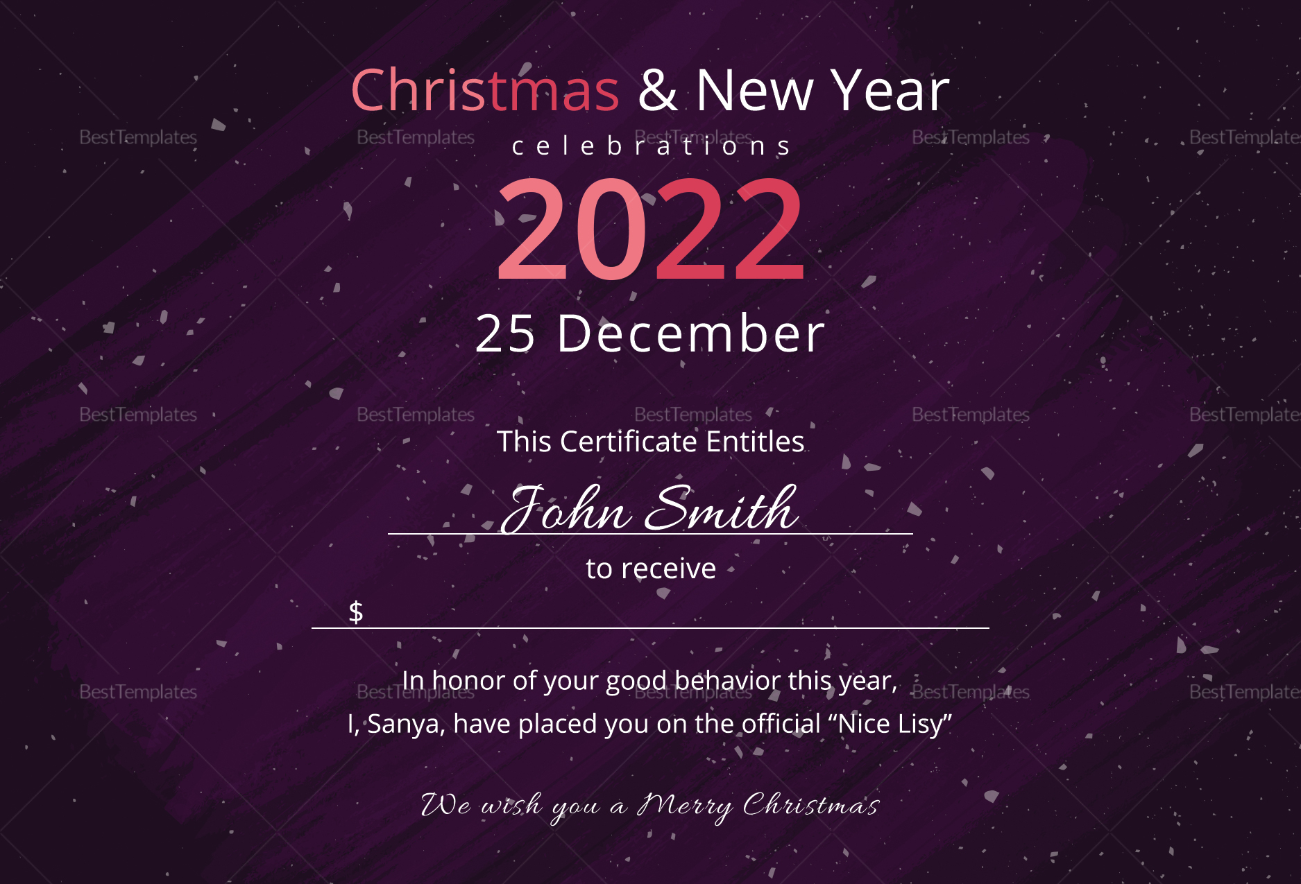 Premium Christmas Gift Certificate