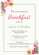 Housewarming Breakfast Party Invitation Design Template