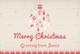 Pink Christmas Greeting Card