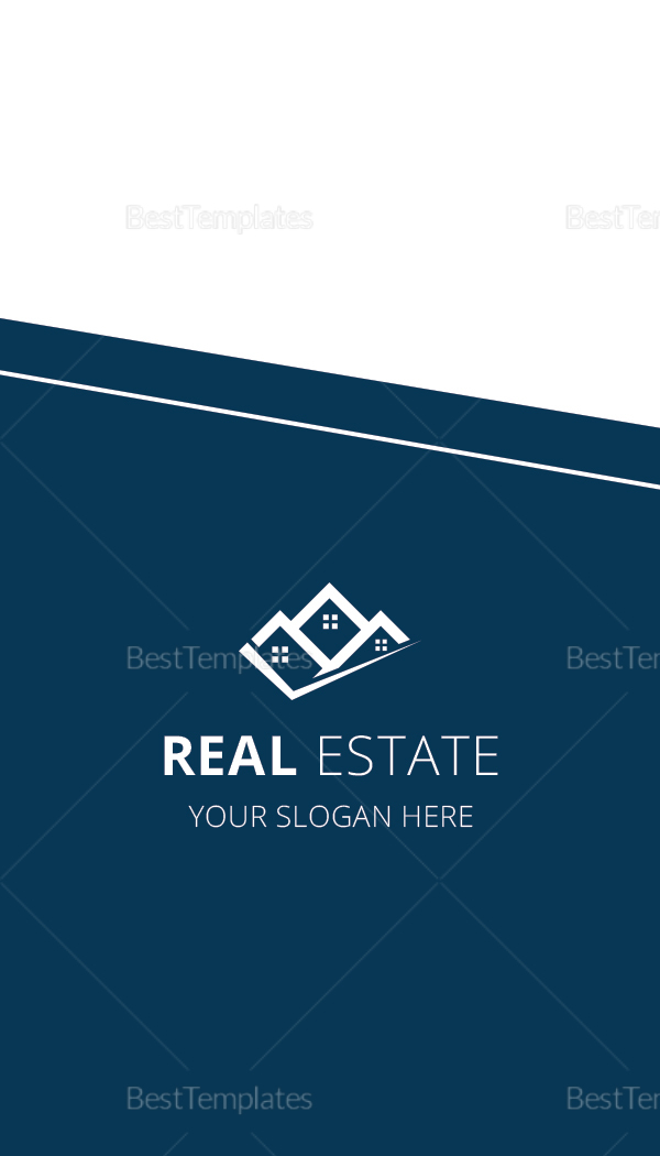 Elegant Real Estate Business Card Design Template In Word Psd