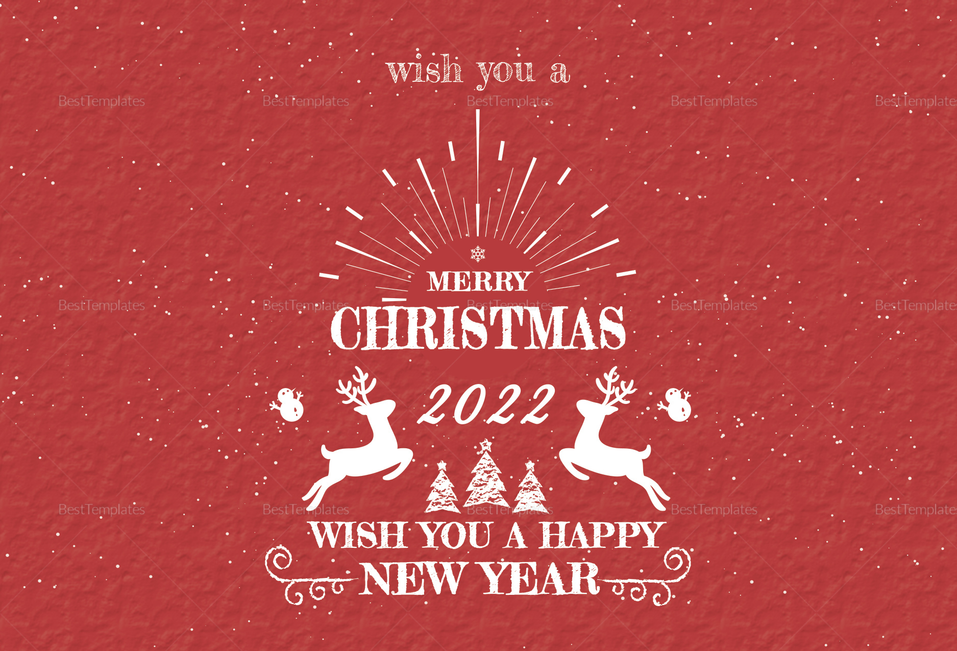Christmas and New Year Greeting Card Template in Adobe ...
