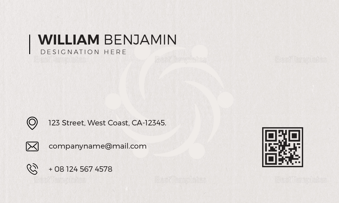 Personal Business Card Design  Template