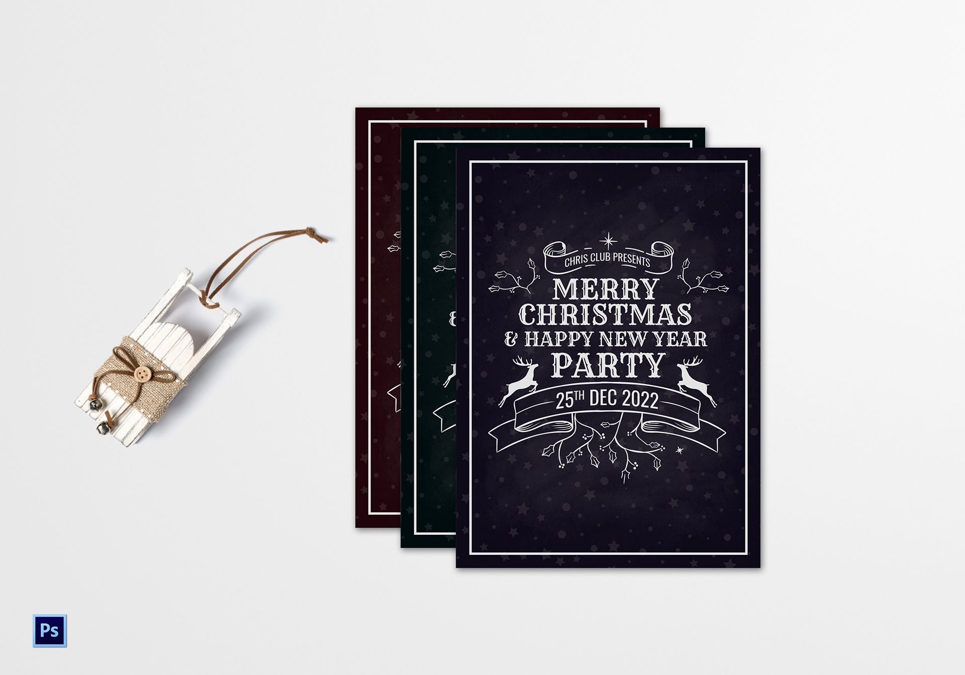 premium christmas greeting card template in adobe photoshop