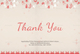 Beautiful Christmas Thank You Card