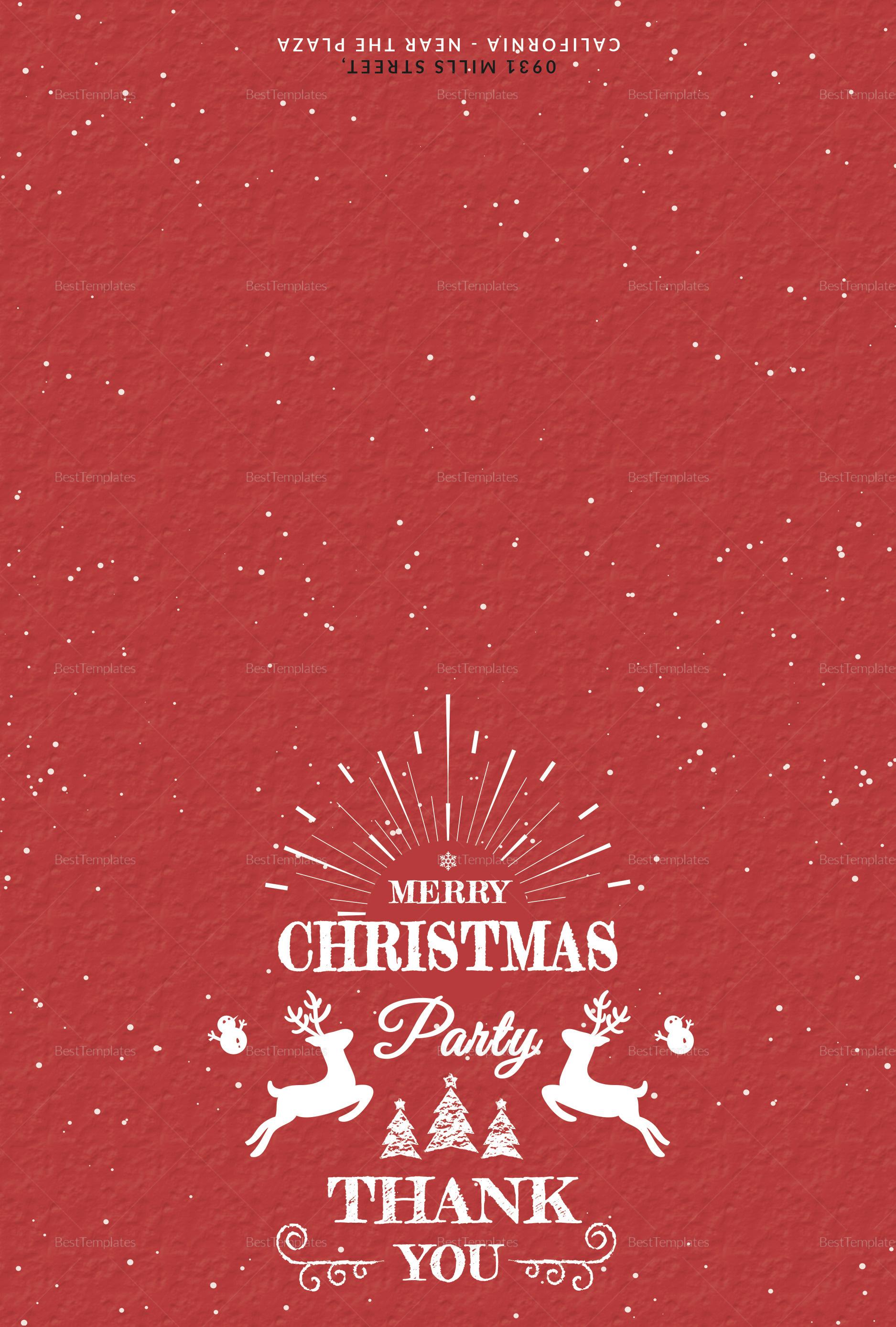 Christmas Holiday Thank You Card