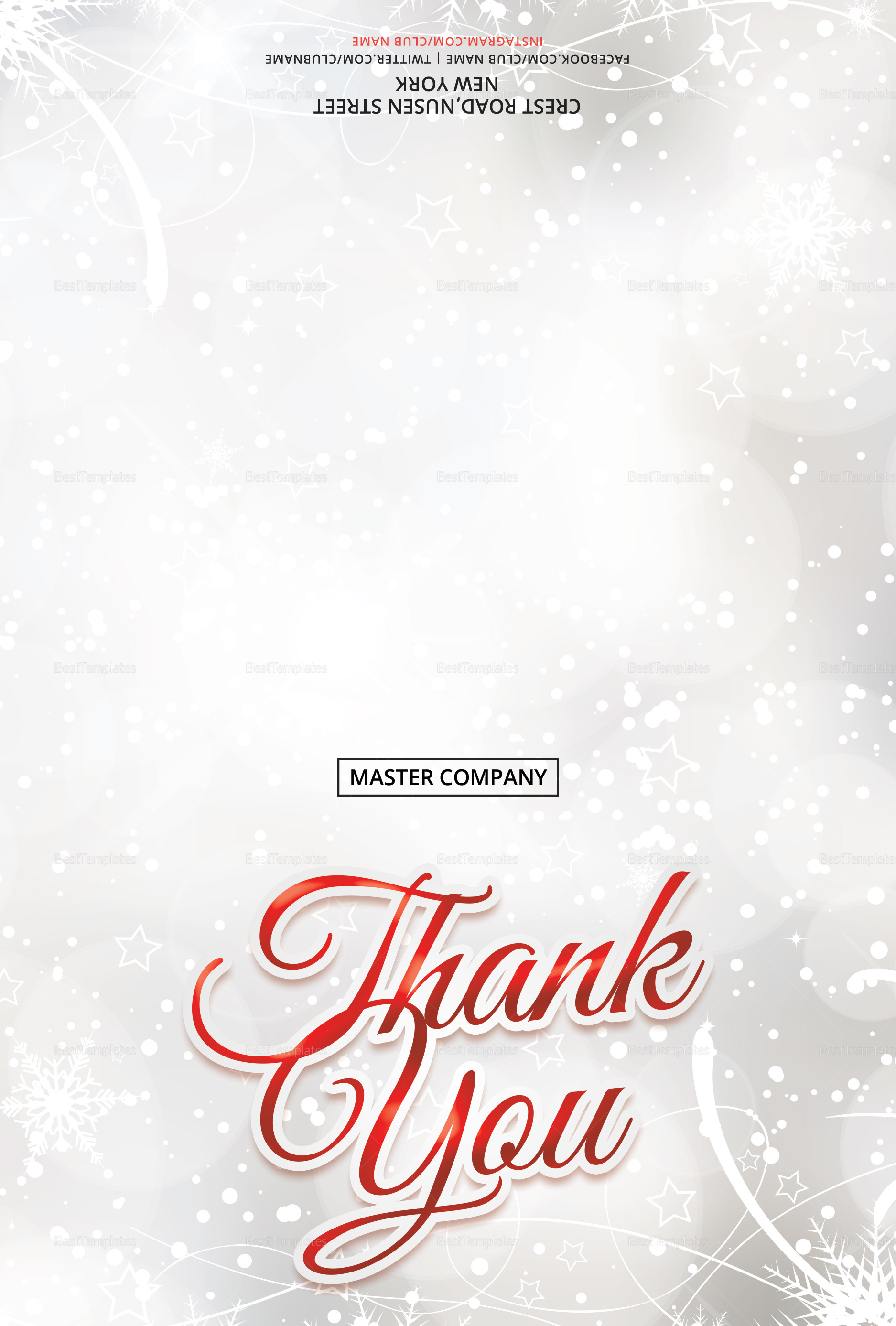 Merry Christmas Thank You Card