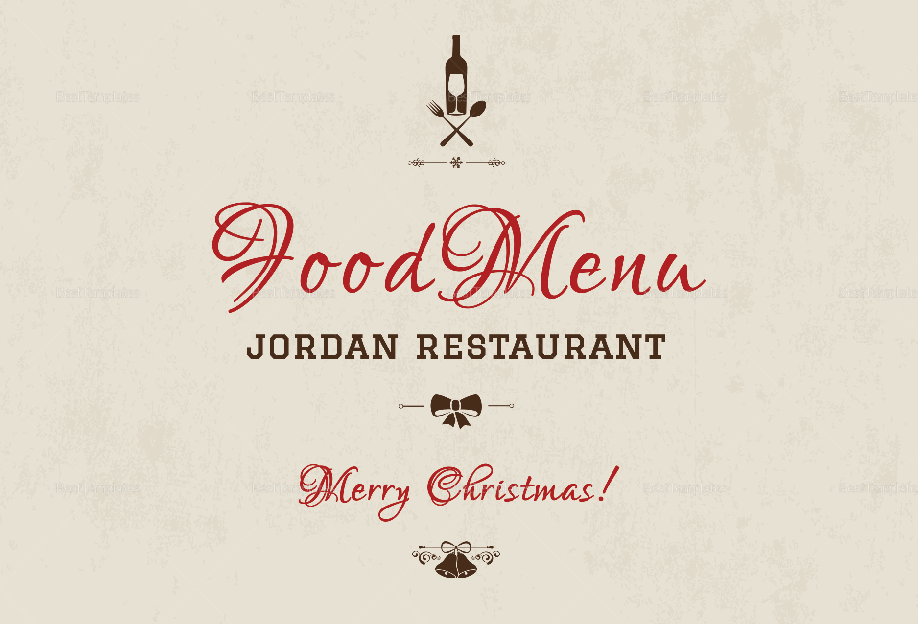 Restaurant Christmas Thank You Card