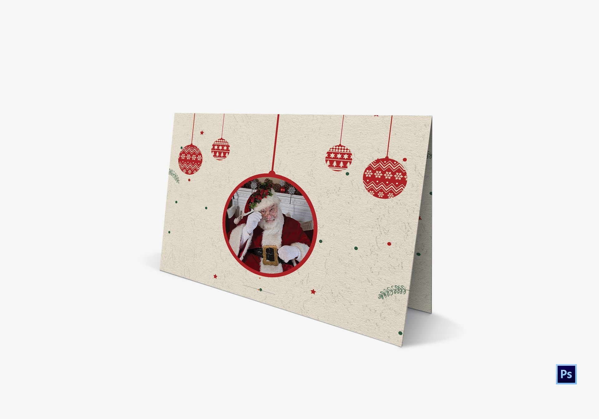 Sparkle Christmas Tree Card Template in Adobe Photoshop