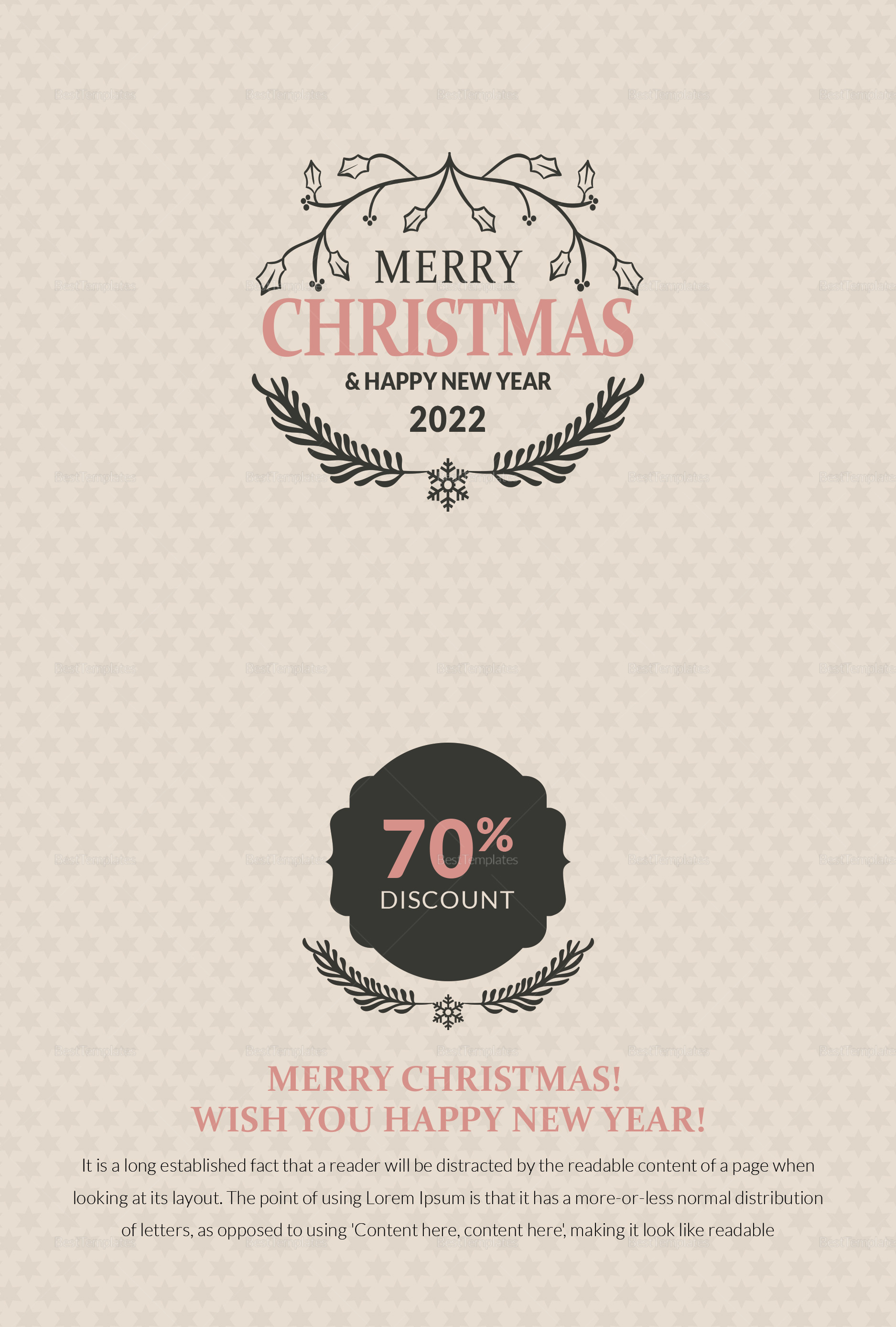 Simple Christmas Thank You Card