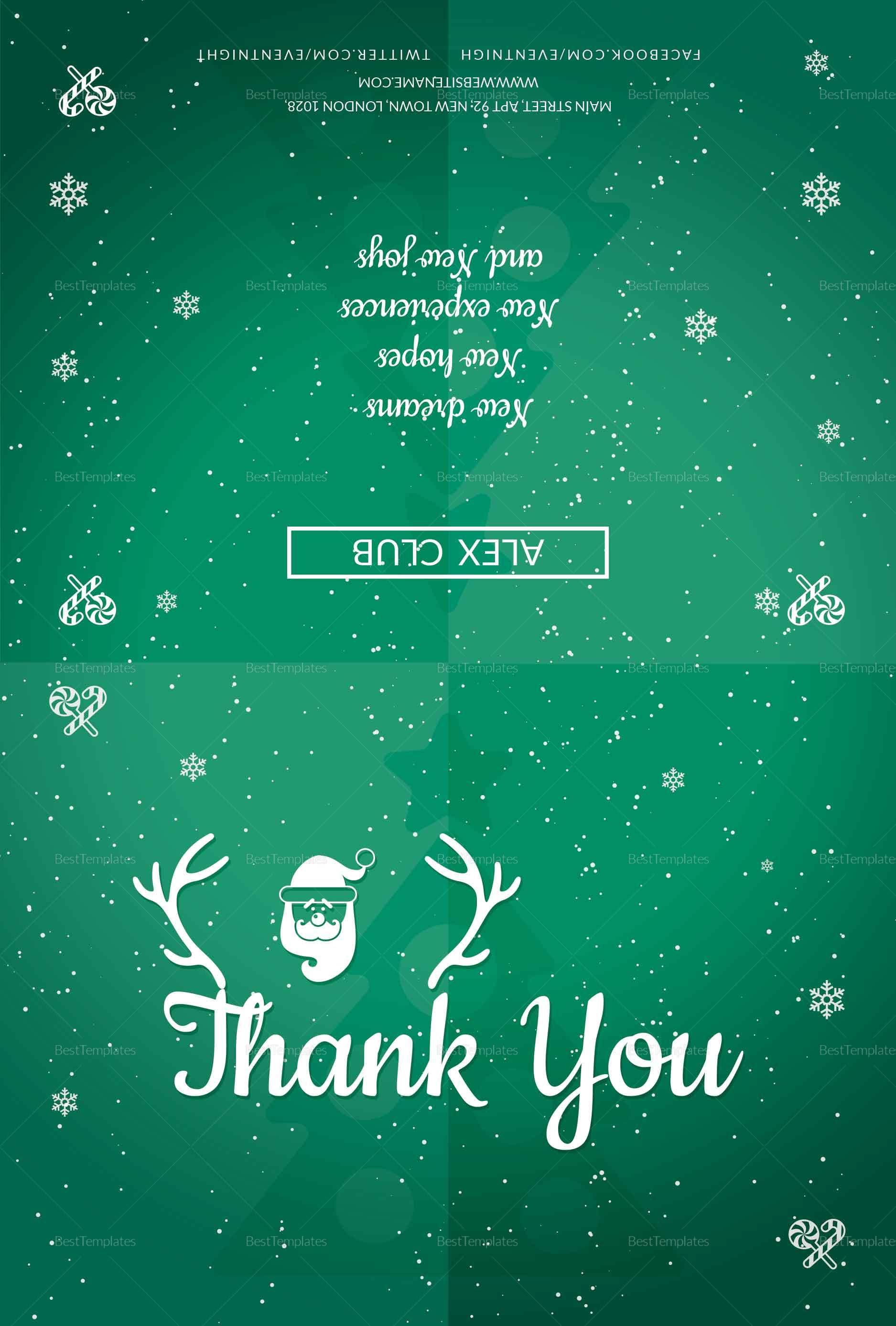 Seasons Holiday Thank You Card
