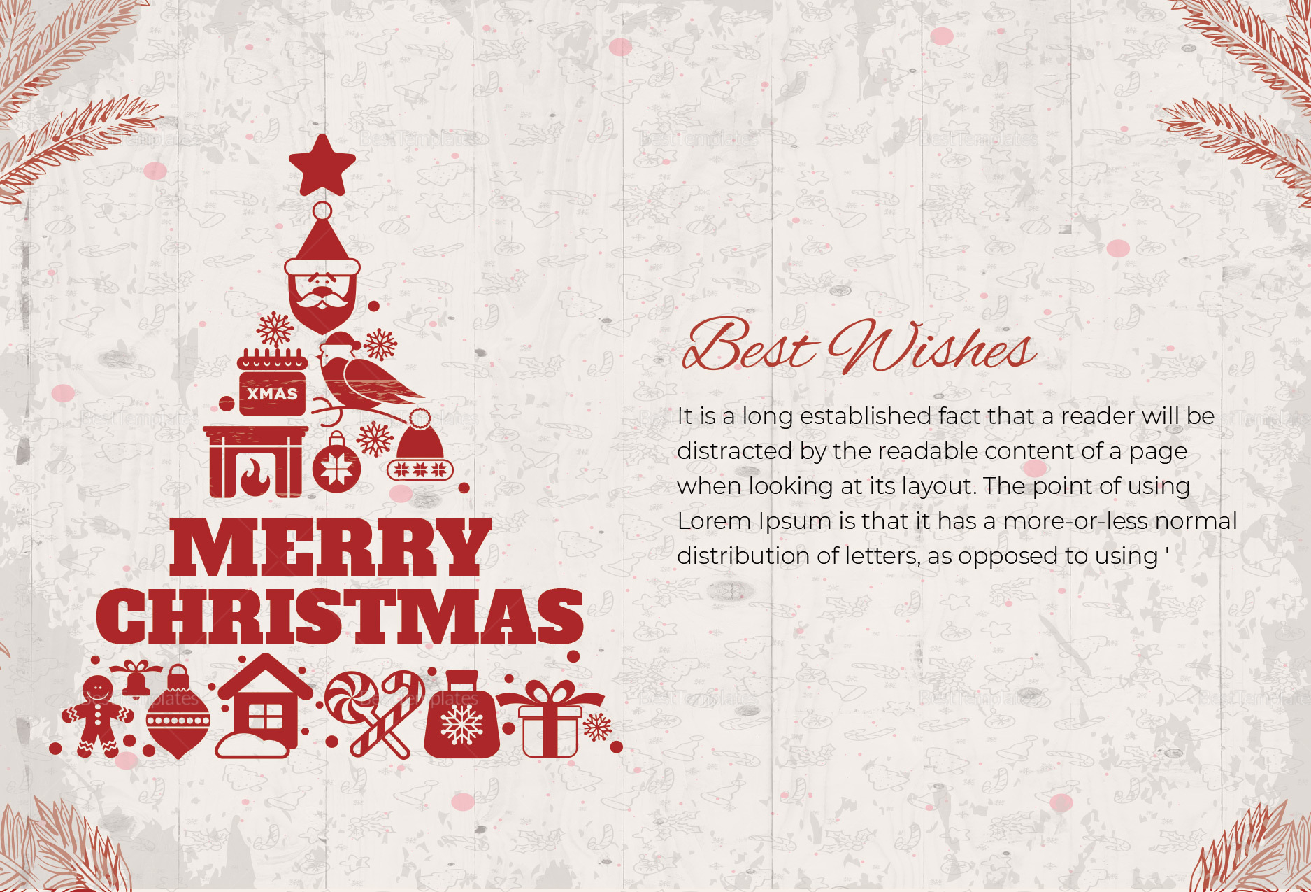 christmas wishes thank you card template in adobe photoshop