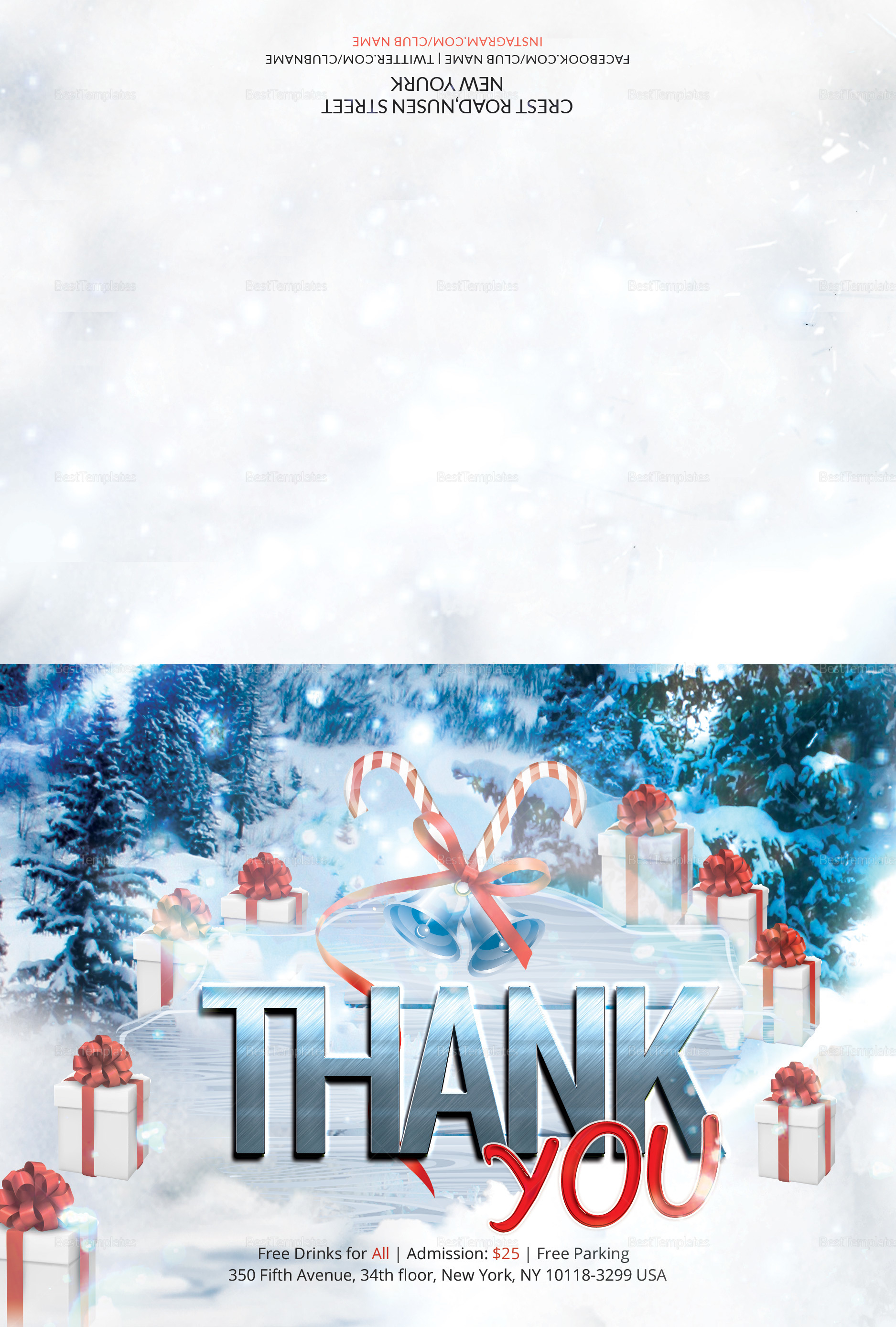 Premium Christmas Thank You Card
