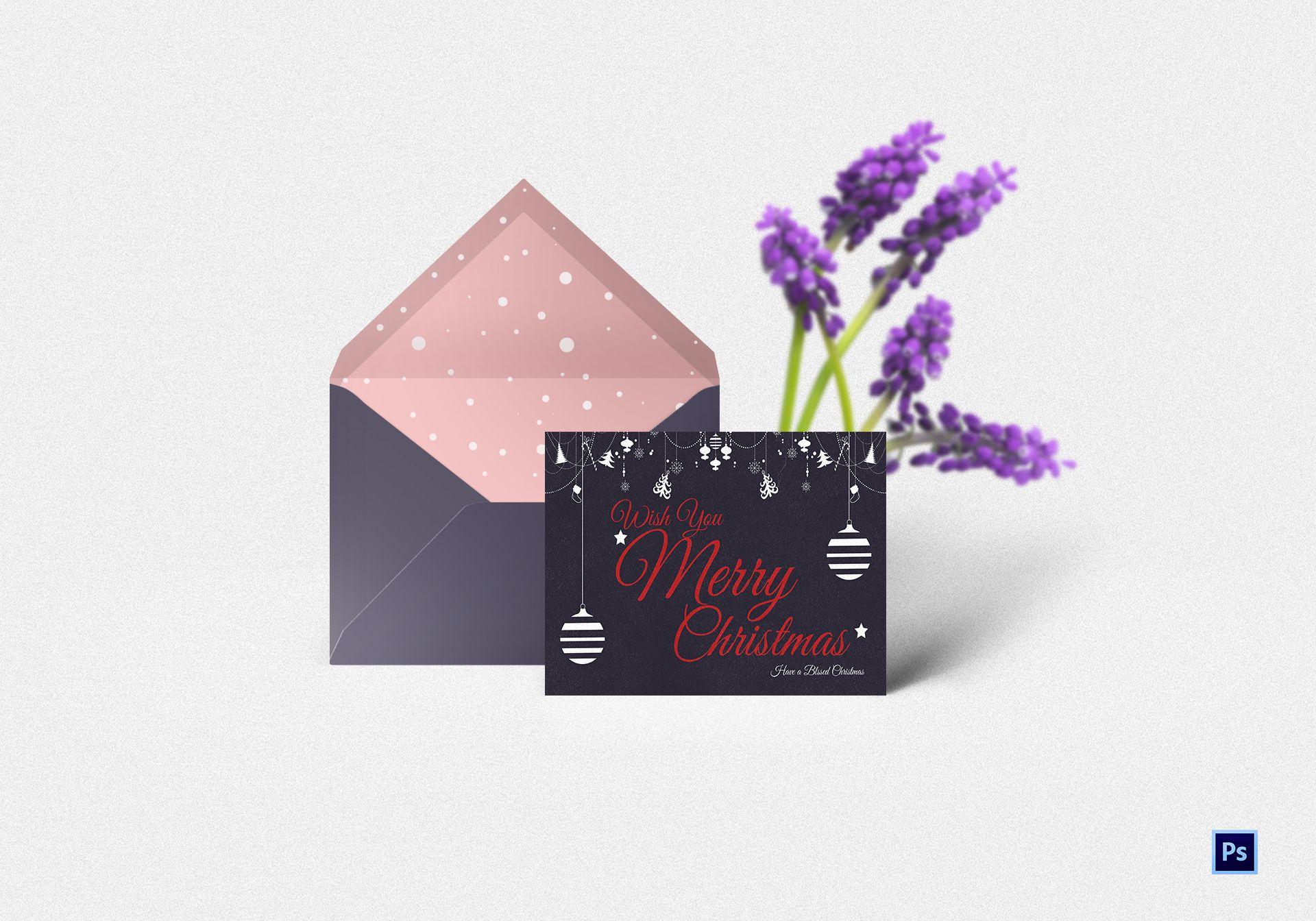 Christmas Thank You Card Template