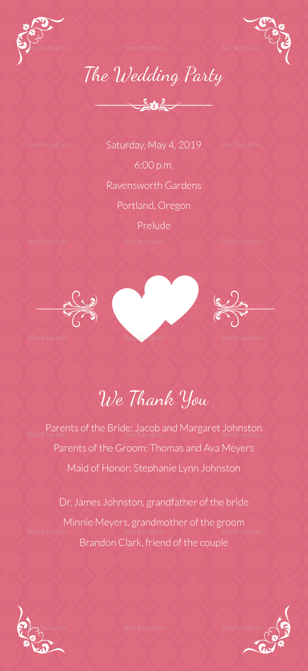Sample Wedding Invitation Card Template 2