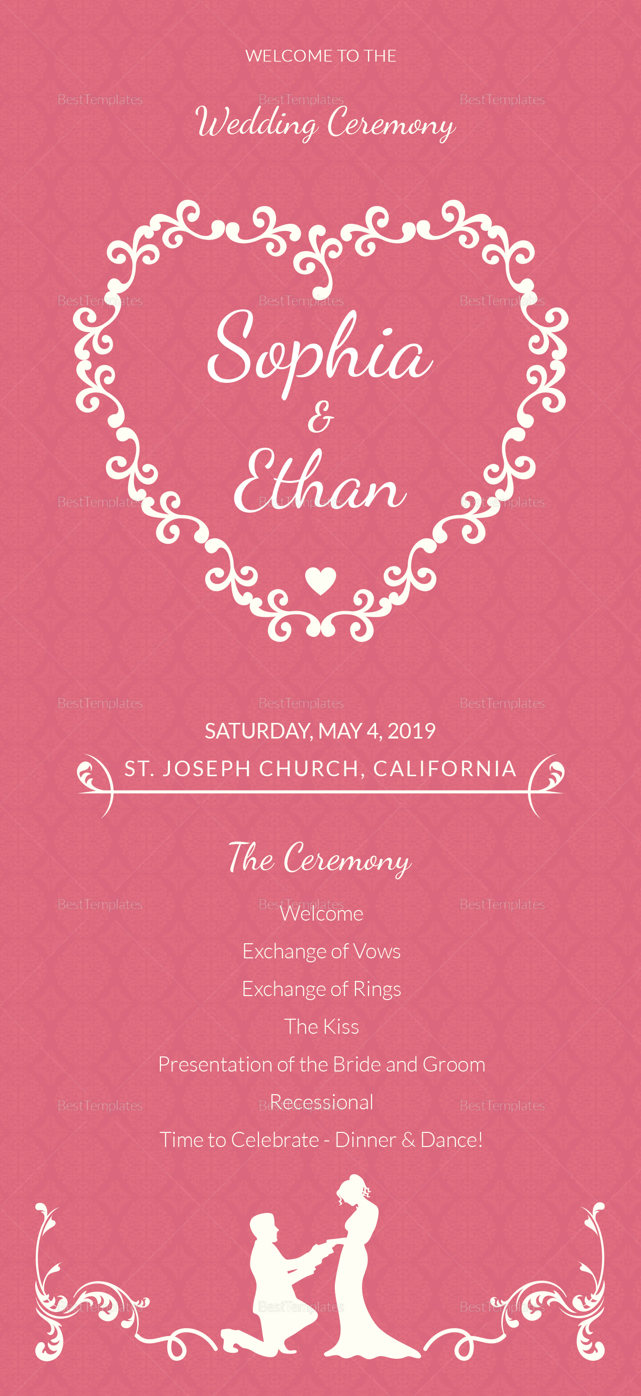 Simple Wedding Invitation Card Template 1