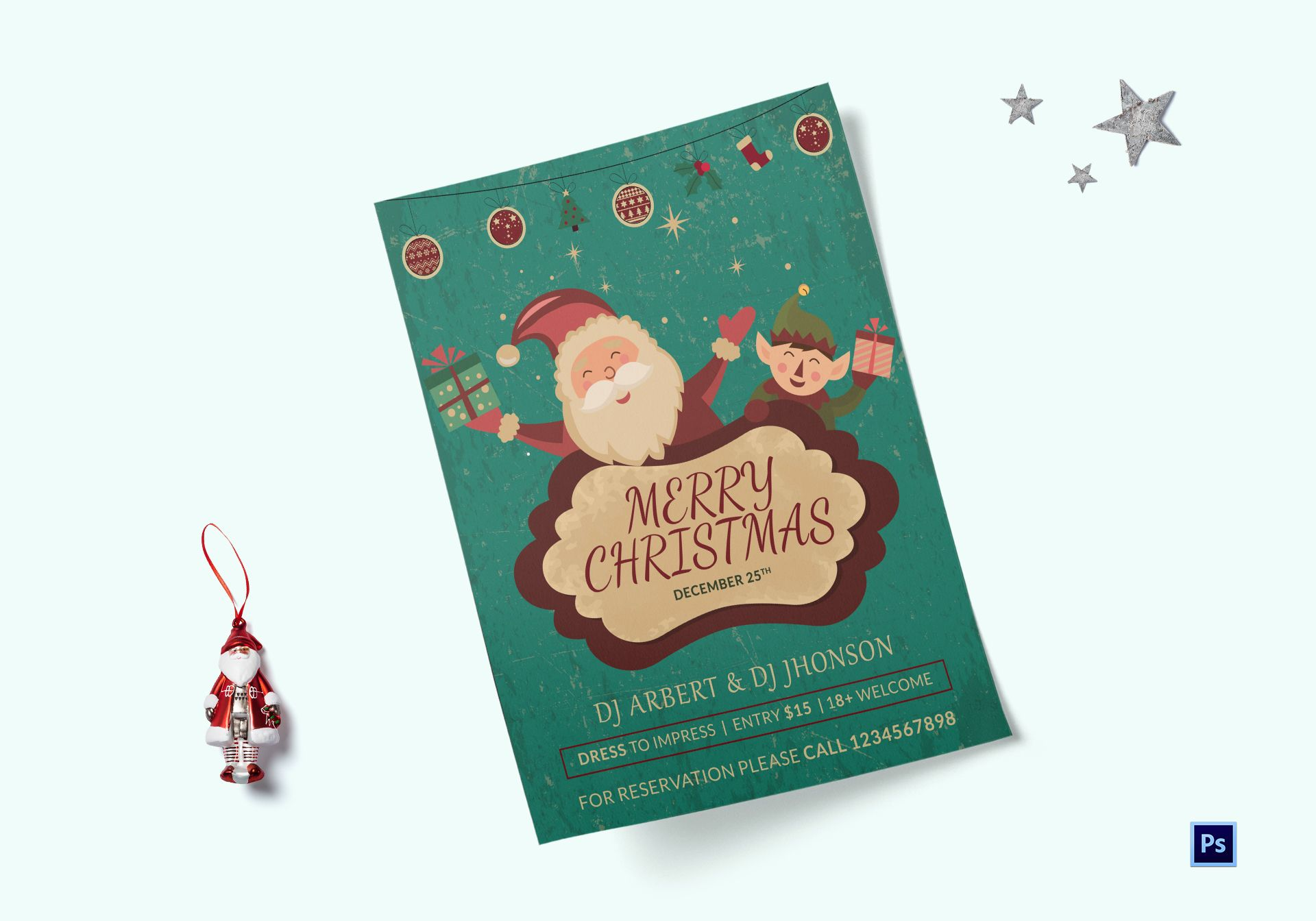 Merry Christmas Celebrations Flyer Template