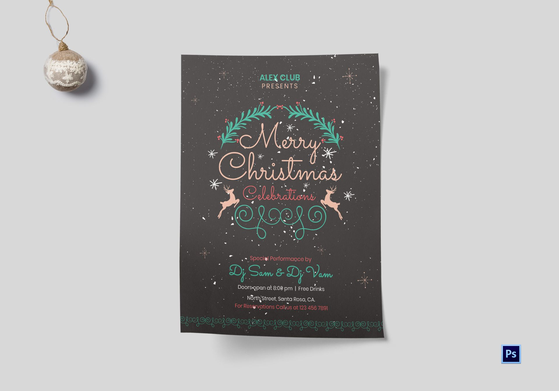 DJ Christmas Celebrations Flyer