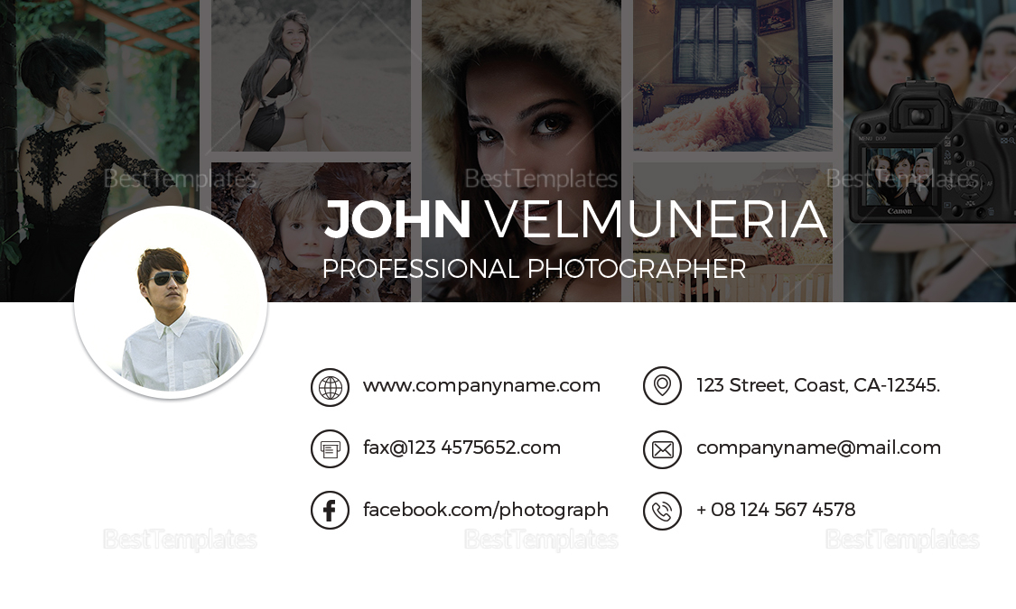 Professional photography business card design template in word psd professional photography business card design template wajeb Image collections