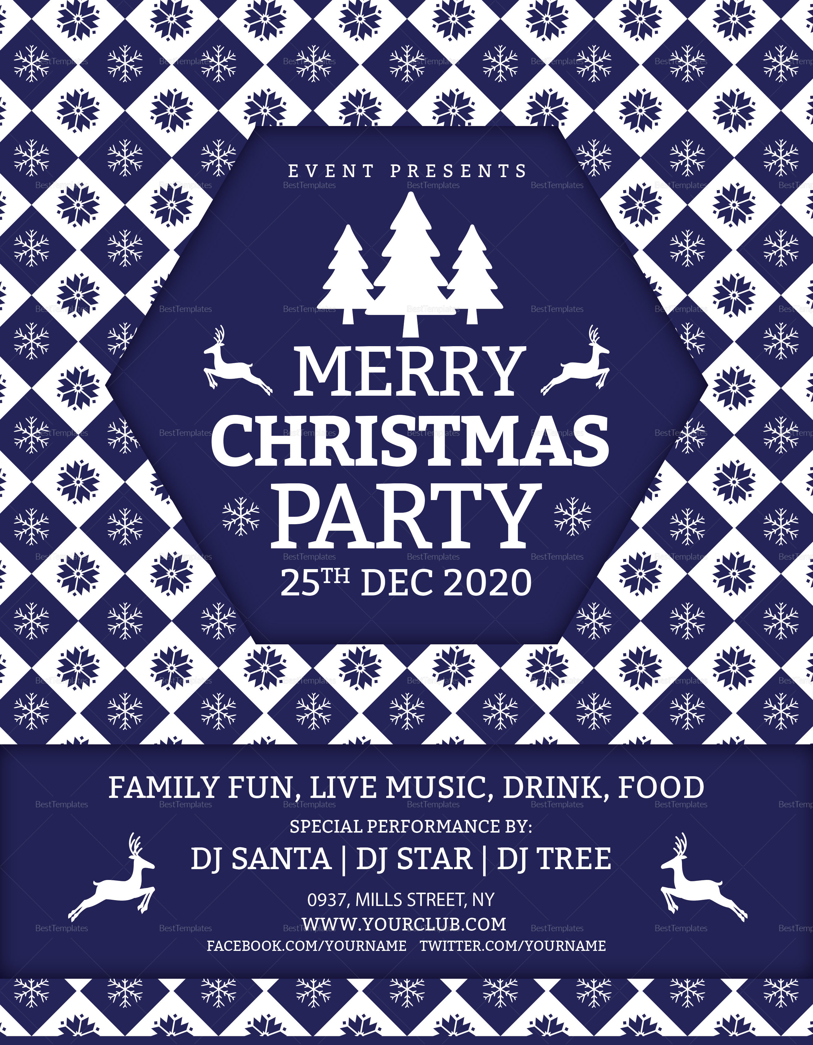 Merry Christmas DJ Party Flyer