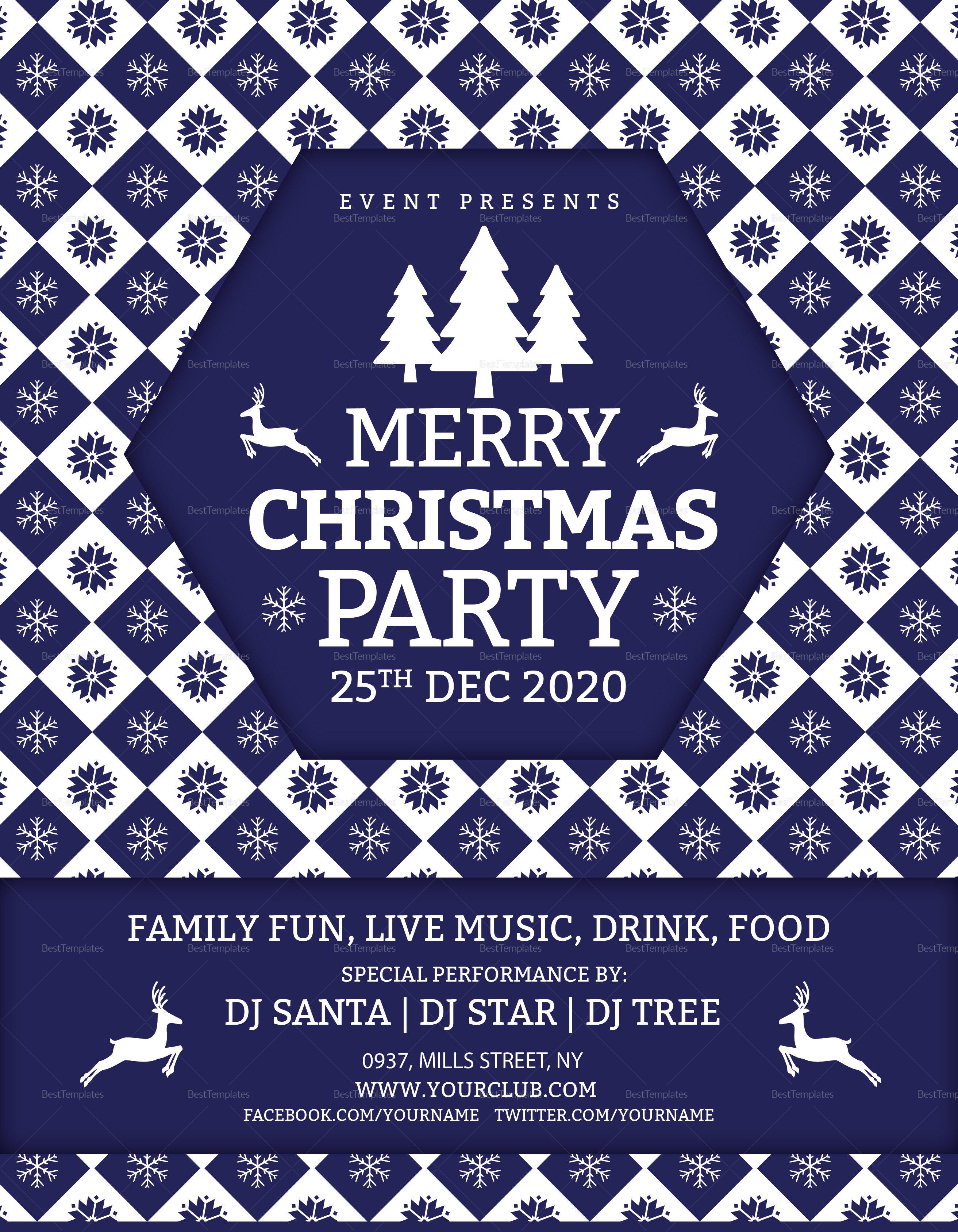 Merry Christmas DJ Party Flyer