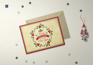 /5484/Merry-Xmas-Postcard-Template